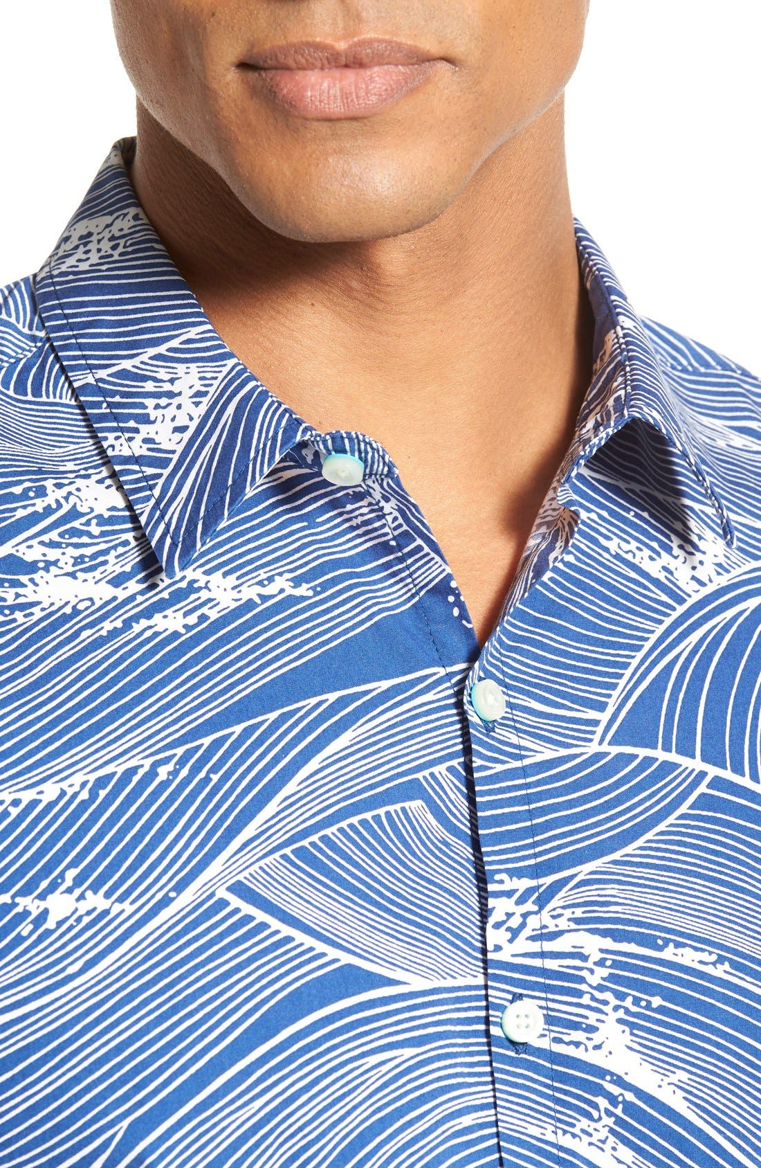 'Ocean's 11' Classic Fit Cotton Lawn Sport Shirt,                             Alternate thumbnail 8, color,