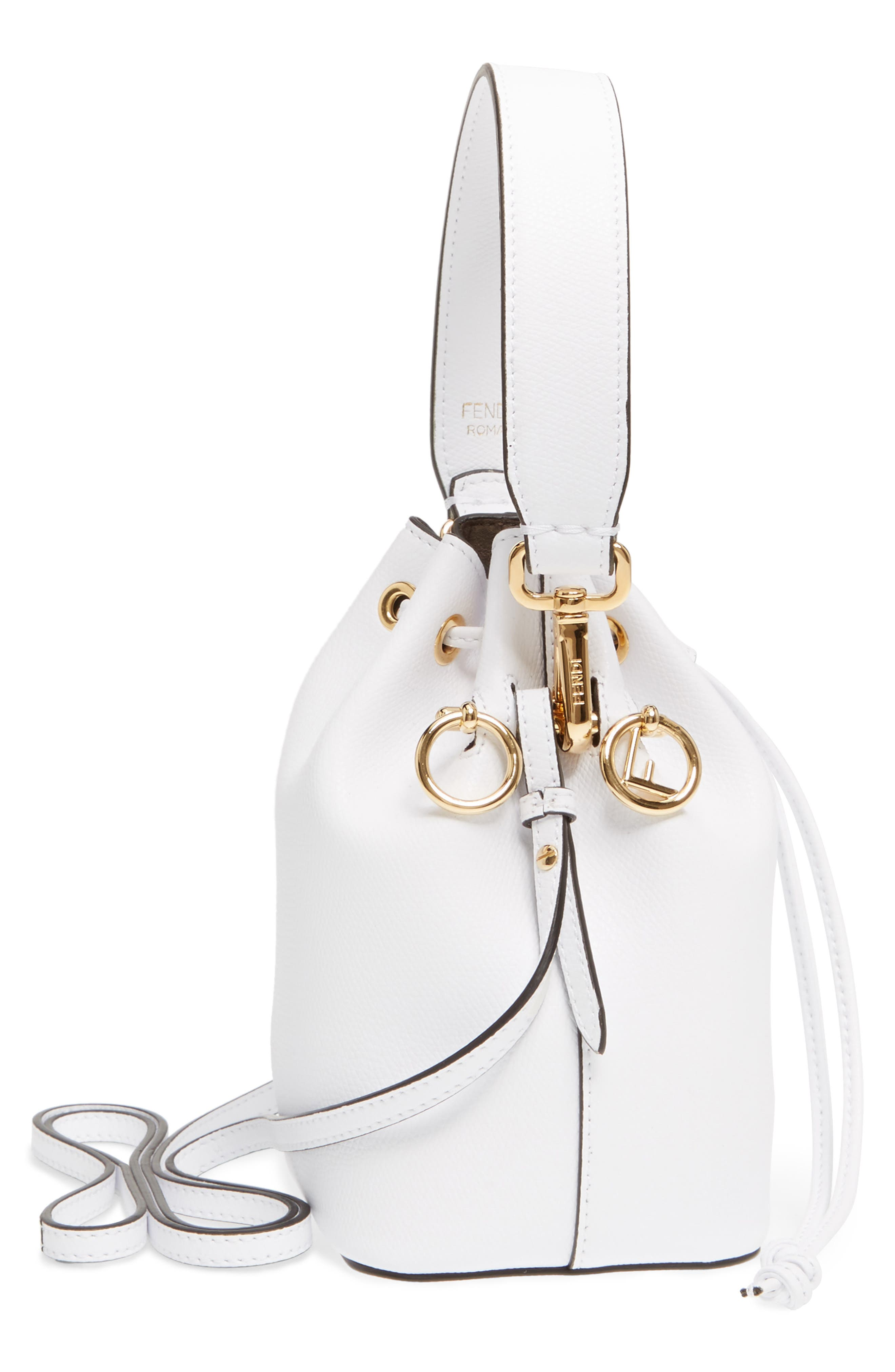 Mini Leather Bucket Bag,                             Alternate thumbnail 9, color,