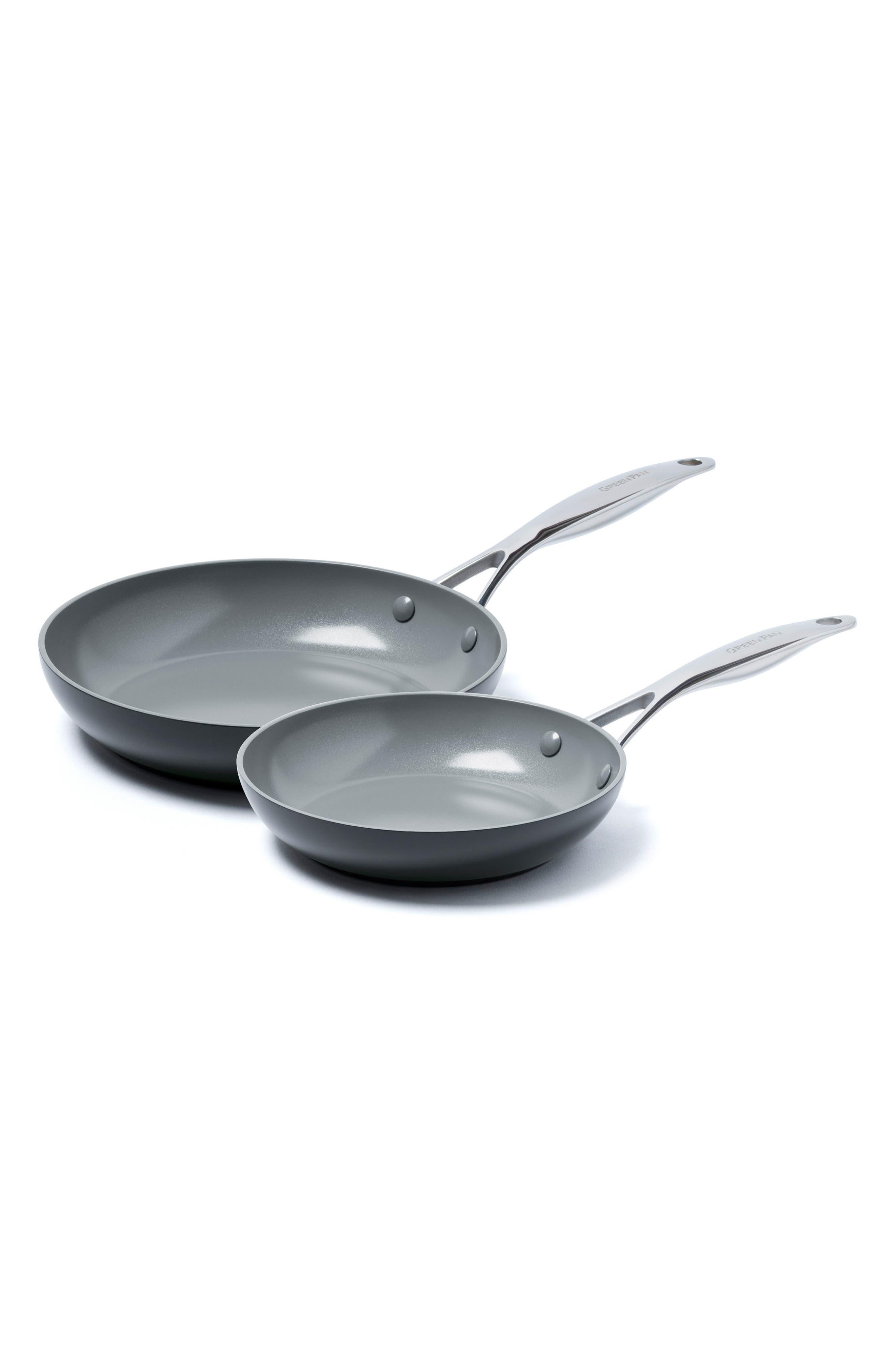 Valencia Pro 8-Inch & 10-Inch Anodized Aluminum Ceramic Nonstick Frying Pan Set,                             Main thumbnail 1, color,                             001