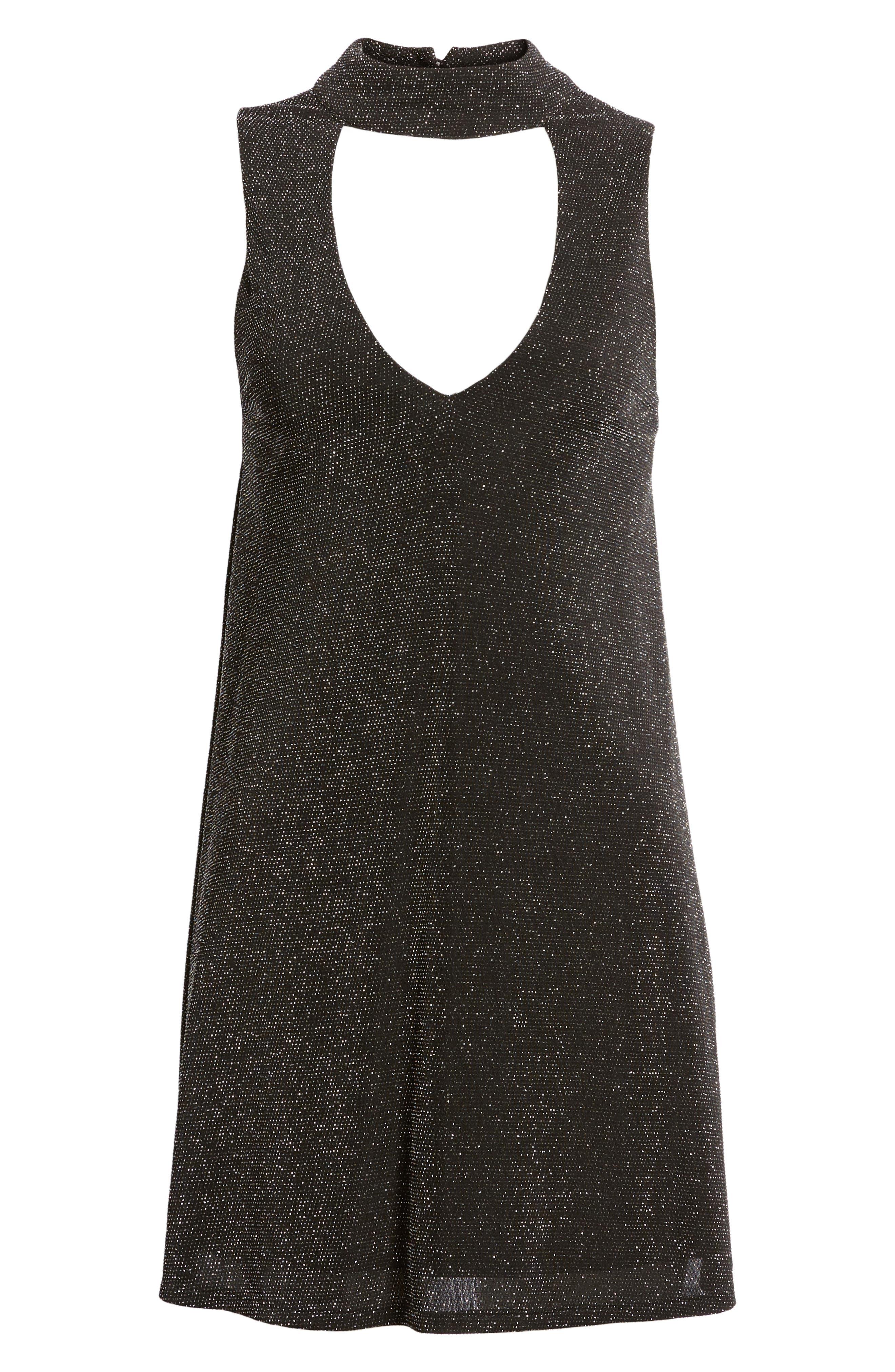 Friday Choker Dress,                             Alternate thumbnail 6, color,                             001