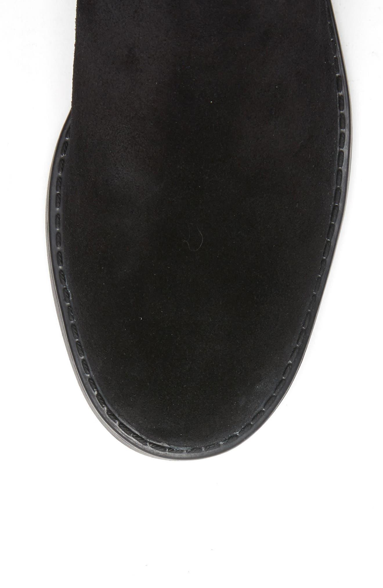 Ellie Waterproof Knee High Riding Boot,                             Alternate thumbnail 5, color,                             BLACK SUEDE