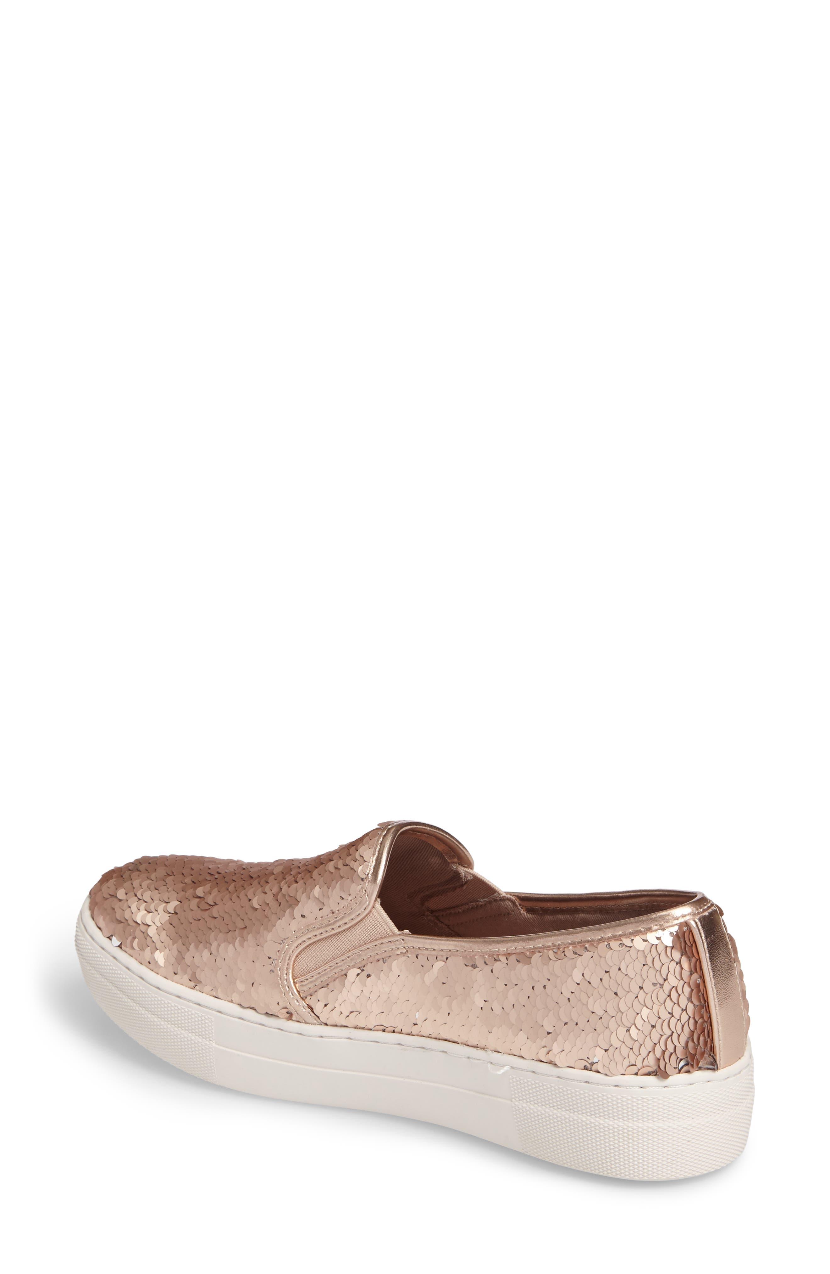 Gills Sequined Slip-On Platform Sneaker,                             Alternate thumbnail 4, color,