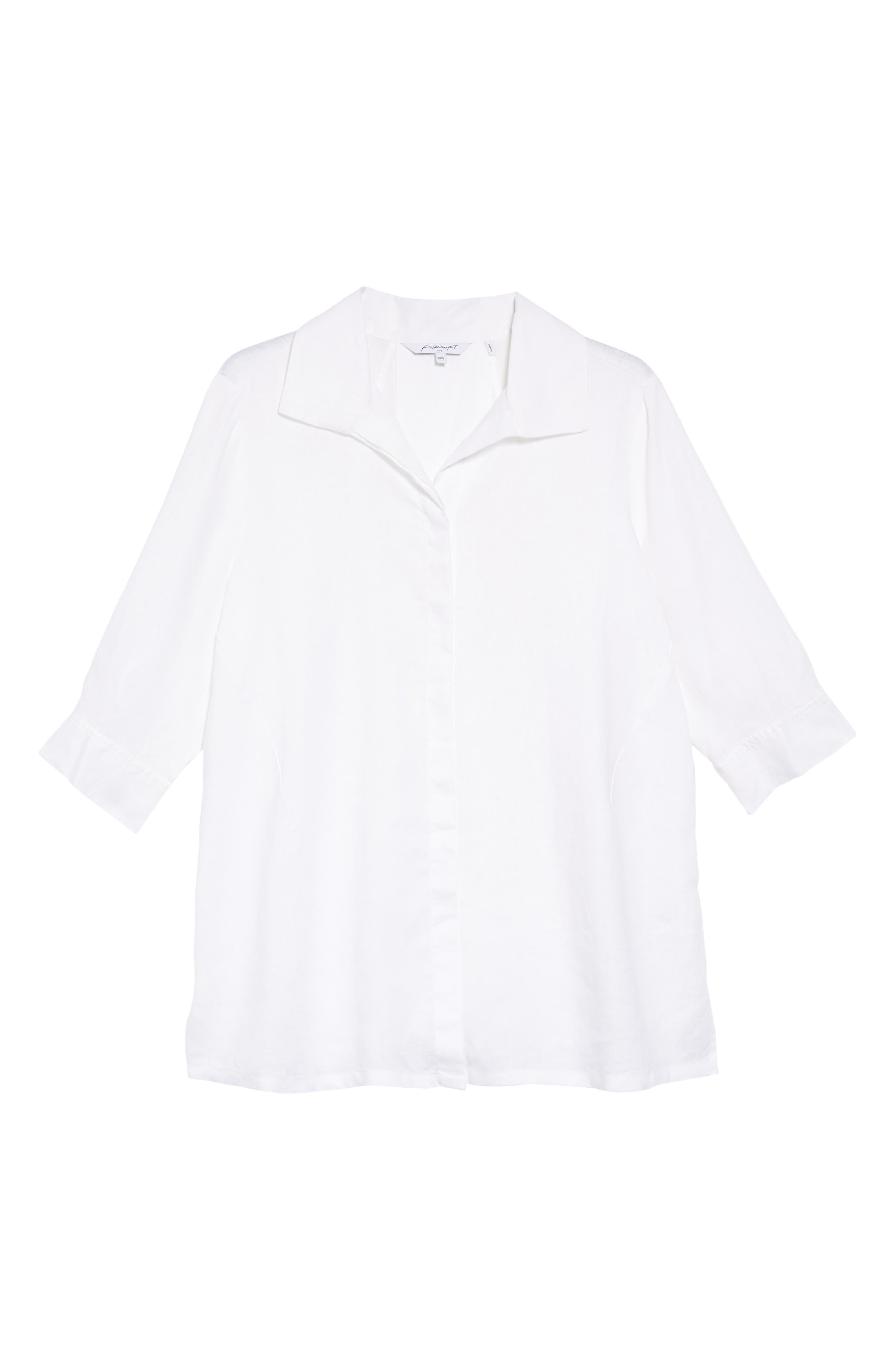 Skye Linen Tunic Shirt,                             Alternate thumbnail 6, color,                             100