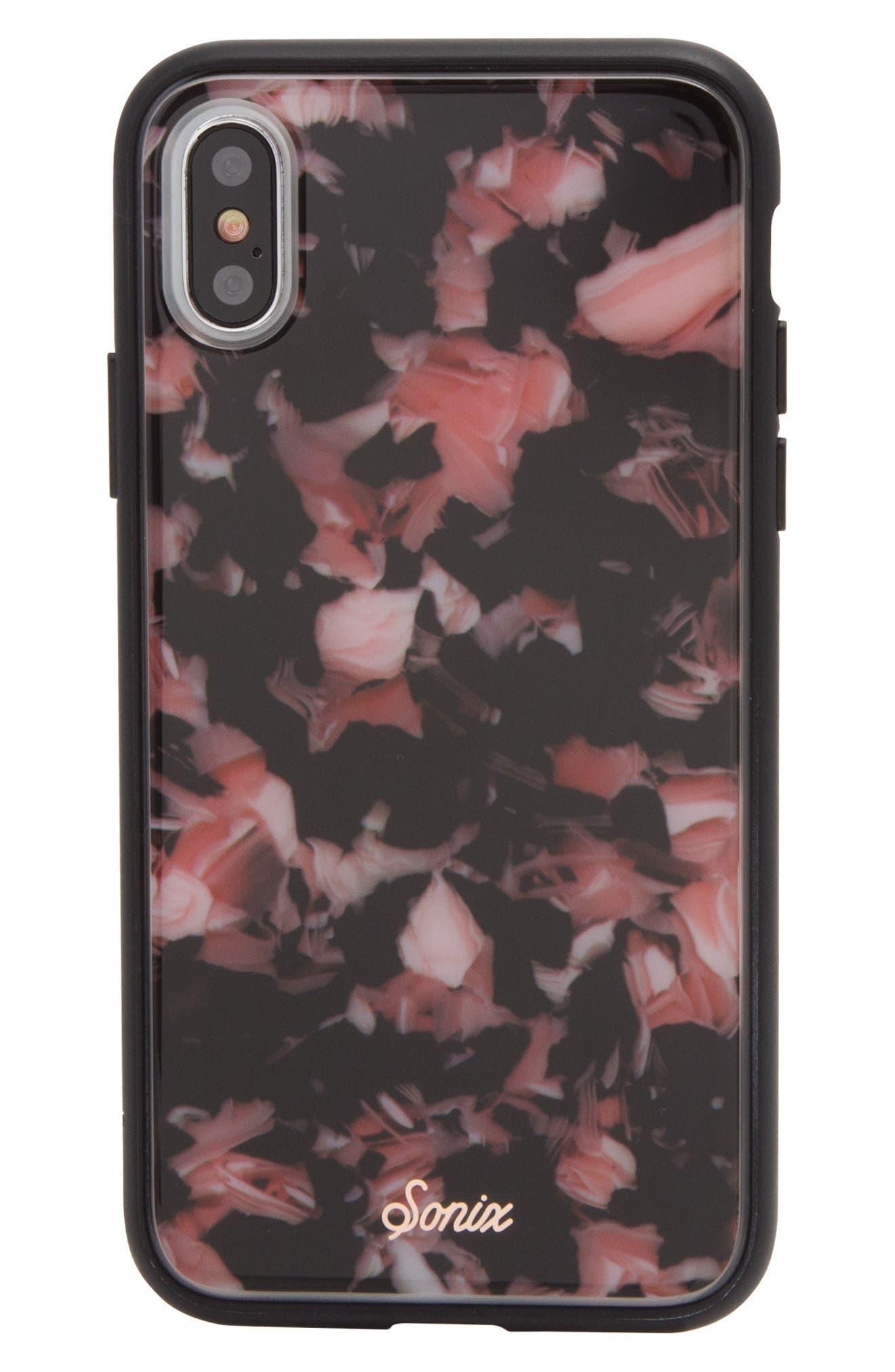 Rose Tortoise Print iPhone X Case,                             Main thumbnail 1, color,                             650