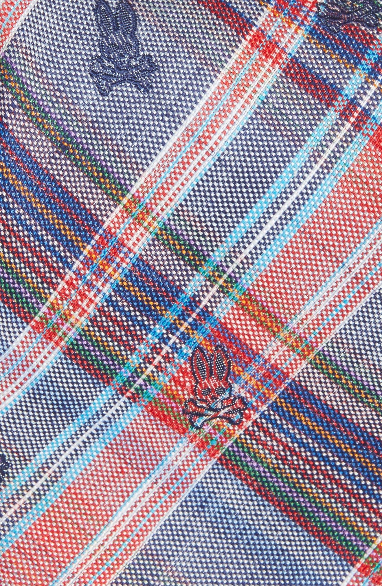 Plaid Bunny Silk Tie,                             Alternate thumbnail 3, color,