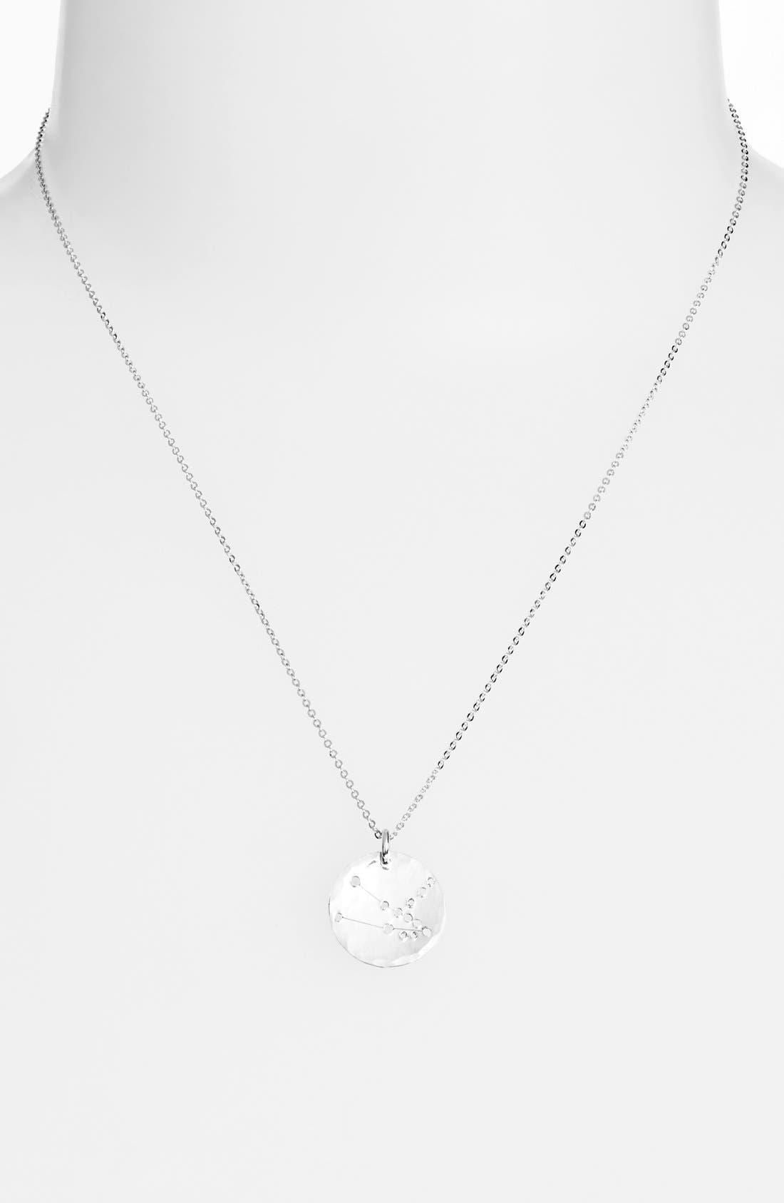 Ija 'Small Zodiac' Sterling Silver Necklace,                             Main thumbnail 2, color,