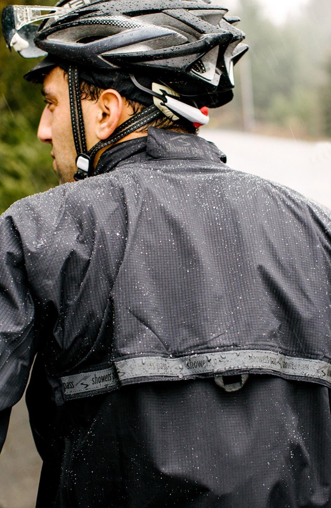 SHOWERS PASS,                             'Elite 2.1' Trim Fit Waterproof Hooded Jacket,                             Alternate thumbnail 2, color,                             001