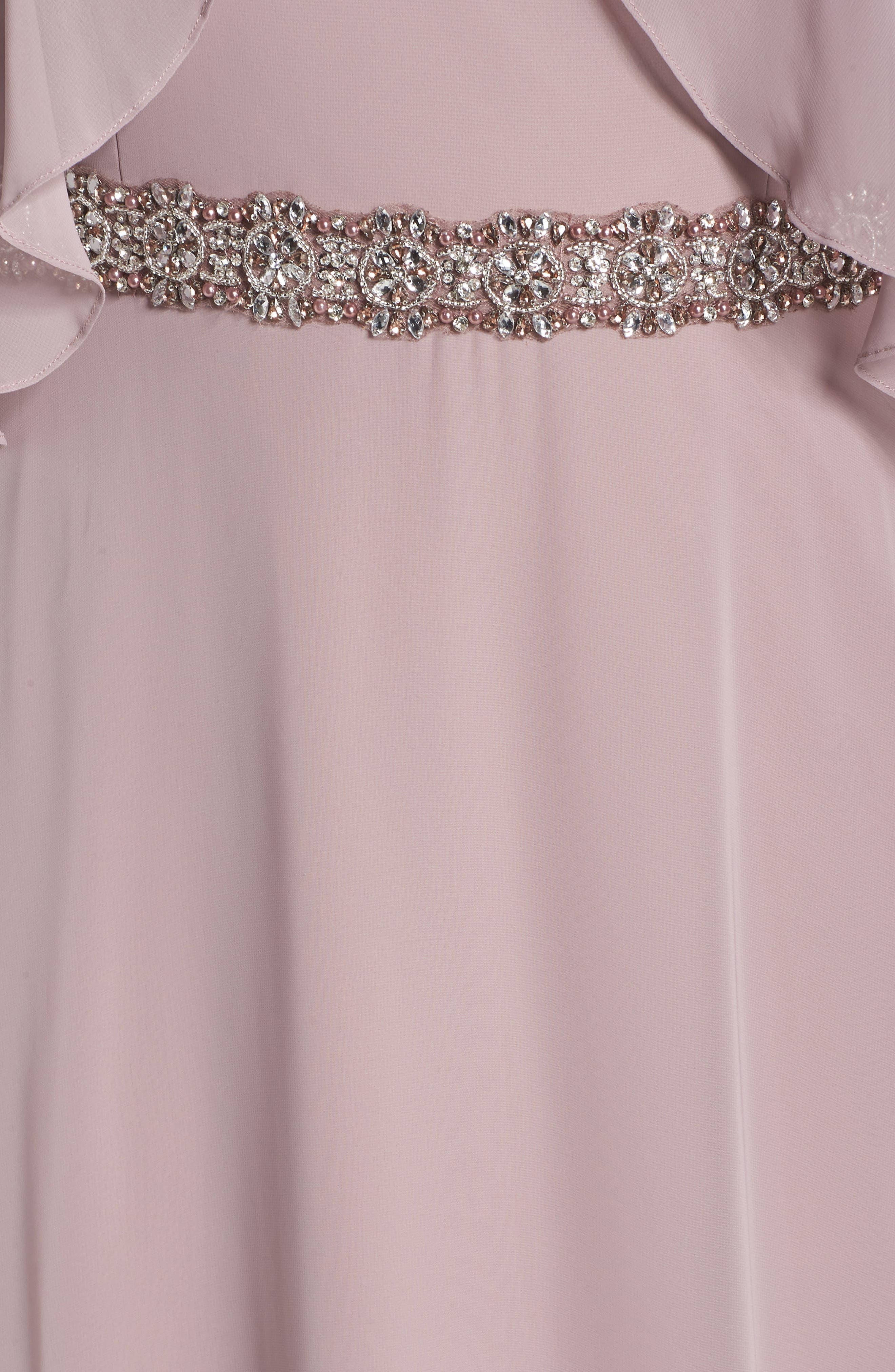 Embellished Waist Flutter Dress,                             Alternate thumbnail 6, color,                             680