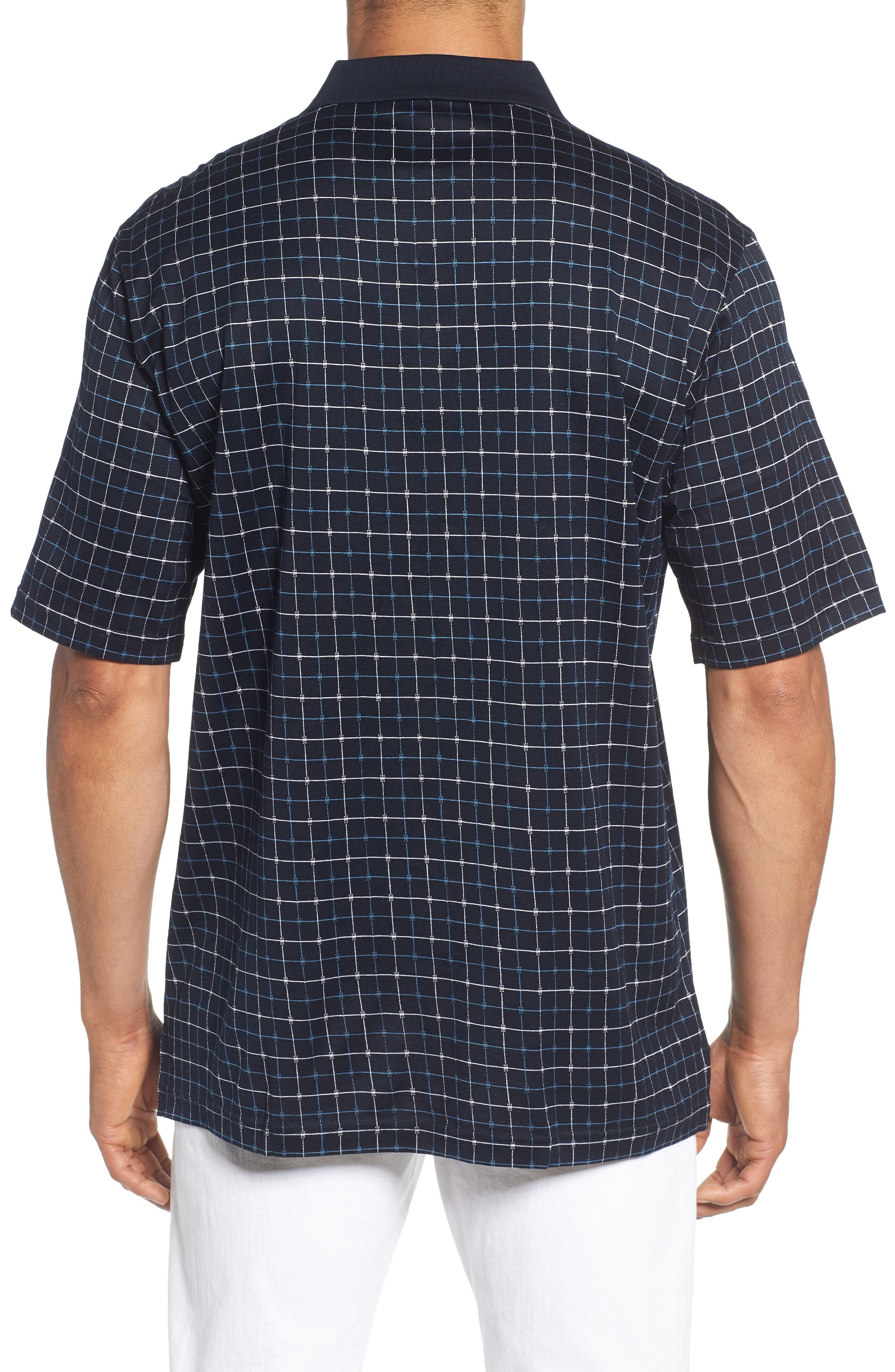 Grid Mercerized Cotton Polo,                             Alternate thumbnail 2, color,                             410