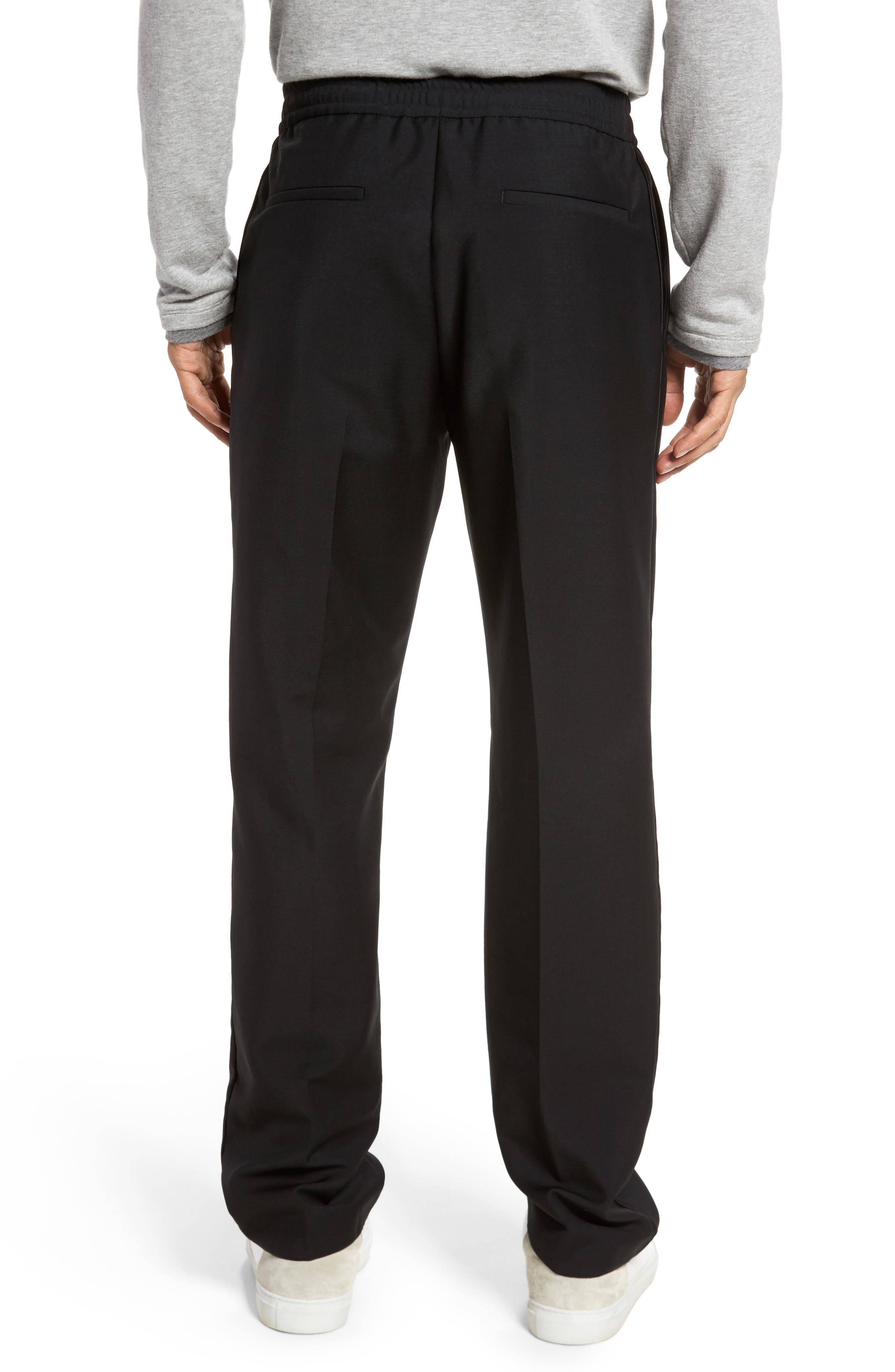 Payton Pleated Solid Wool & Mohair Jogger Trousers,                             Alternate thumbnail 2, color,                             001