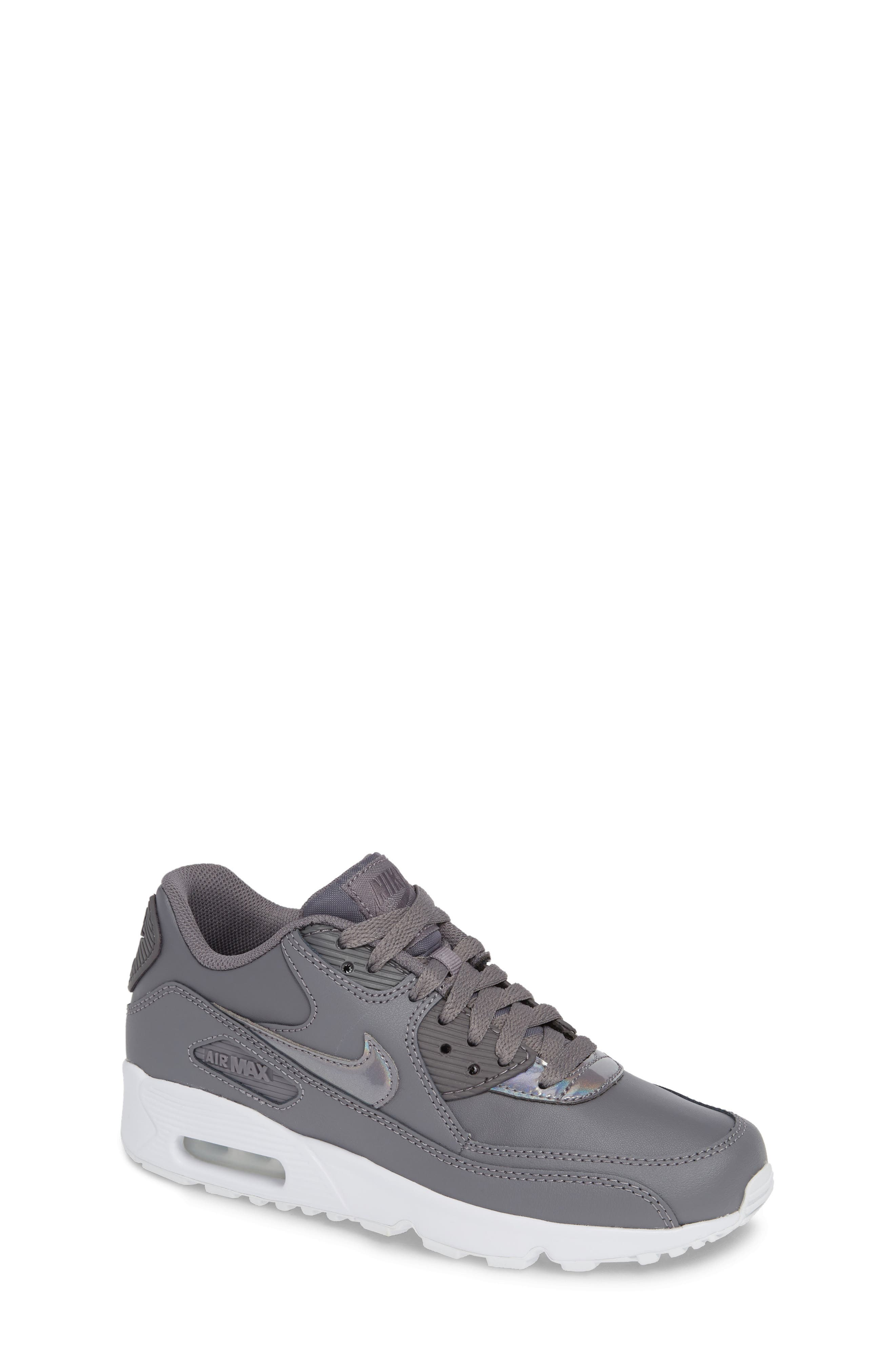 'Air Max 90' Sneaker,                             Main thumbnail 1, color,                             GUNSMOKE/ WHITE