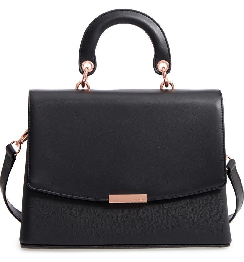 TED BAKER LONDON Keiira Lady Bag Faux Leather Top Handle Satchel, Main,  color, 70d948b8c6