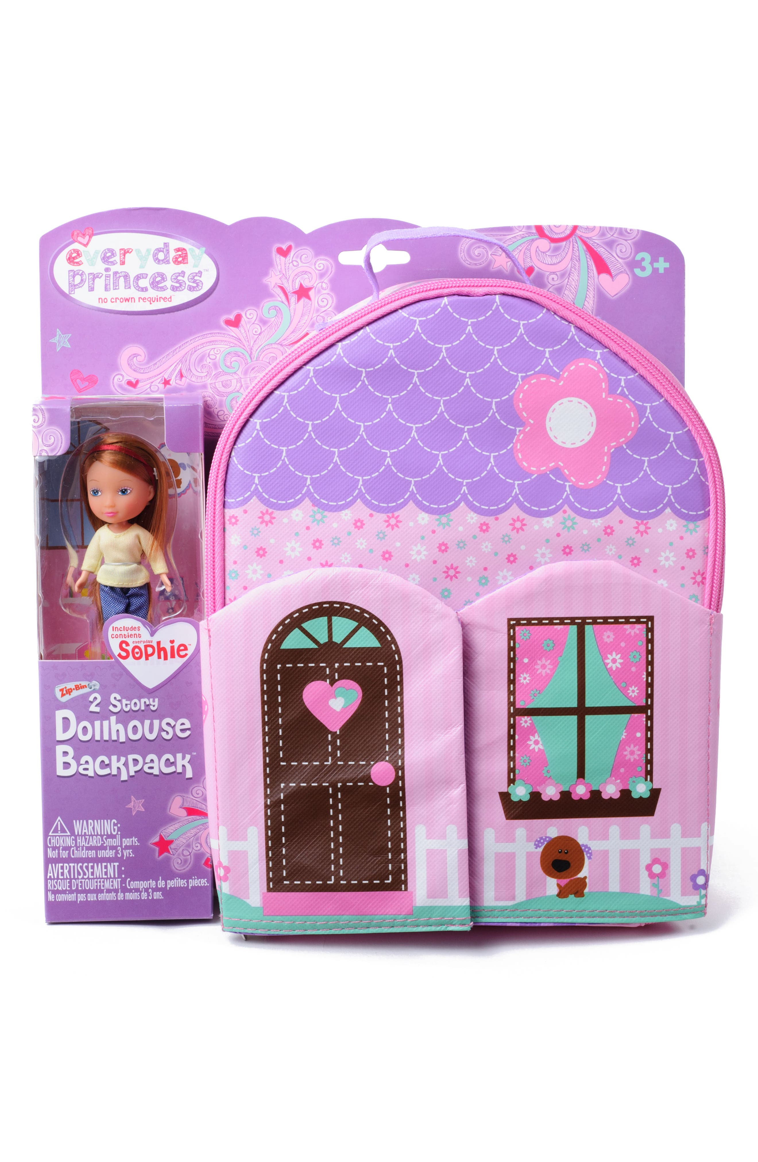 Neat Oh! Everyday Princess Doll & Dollhouse Backpack Set,                             Alternate thumbnail 3, color,                             650