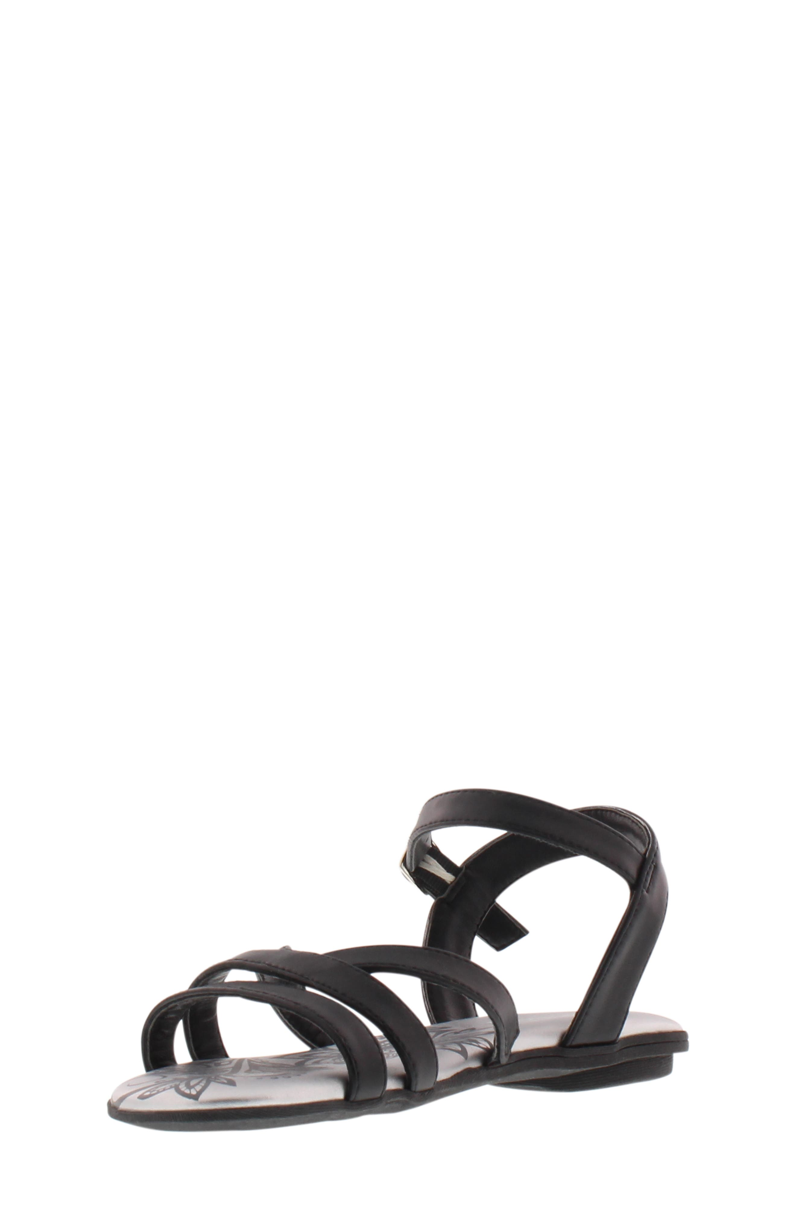 REACTION KENNETH COLE,                             Bright Lilly Strappy Sandal,                             Main thumbnail 1, color,                             BLACK