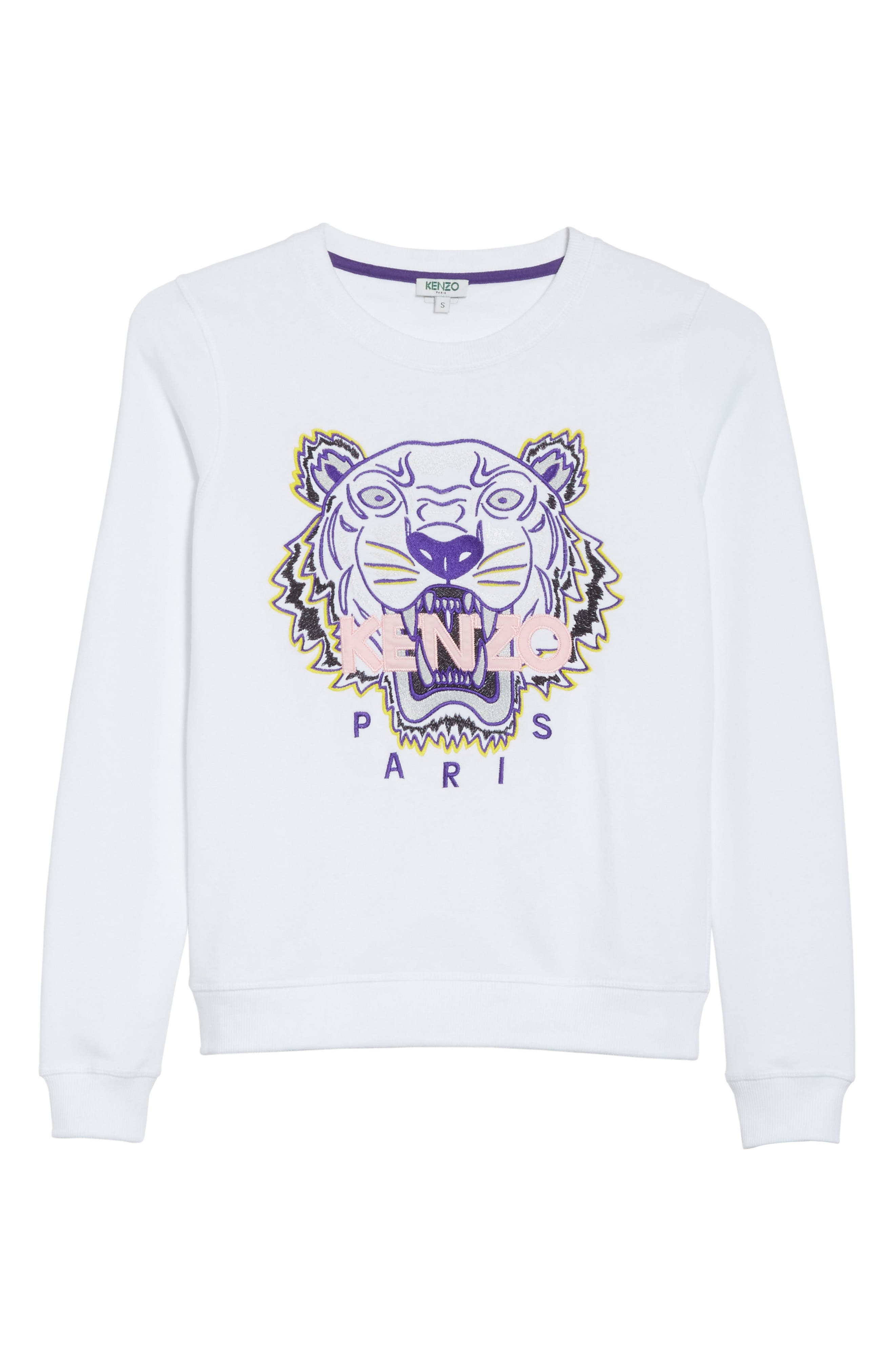 Classic Tiger Sweatshirt,                             Alternate thumbnail 6, color,                             WHITE