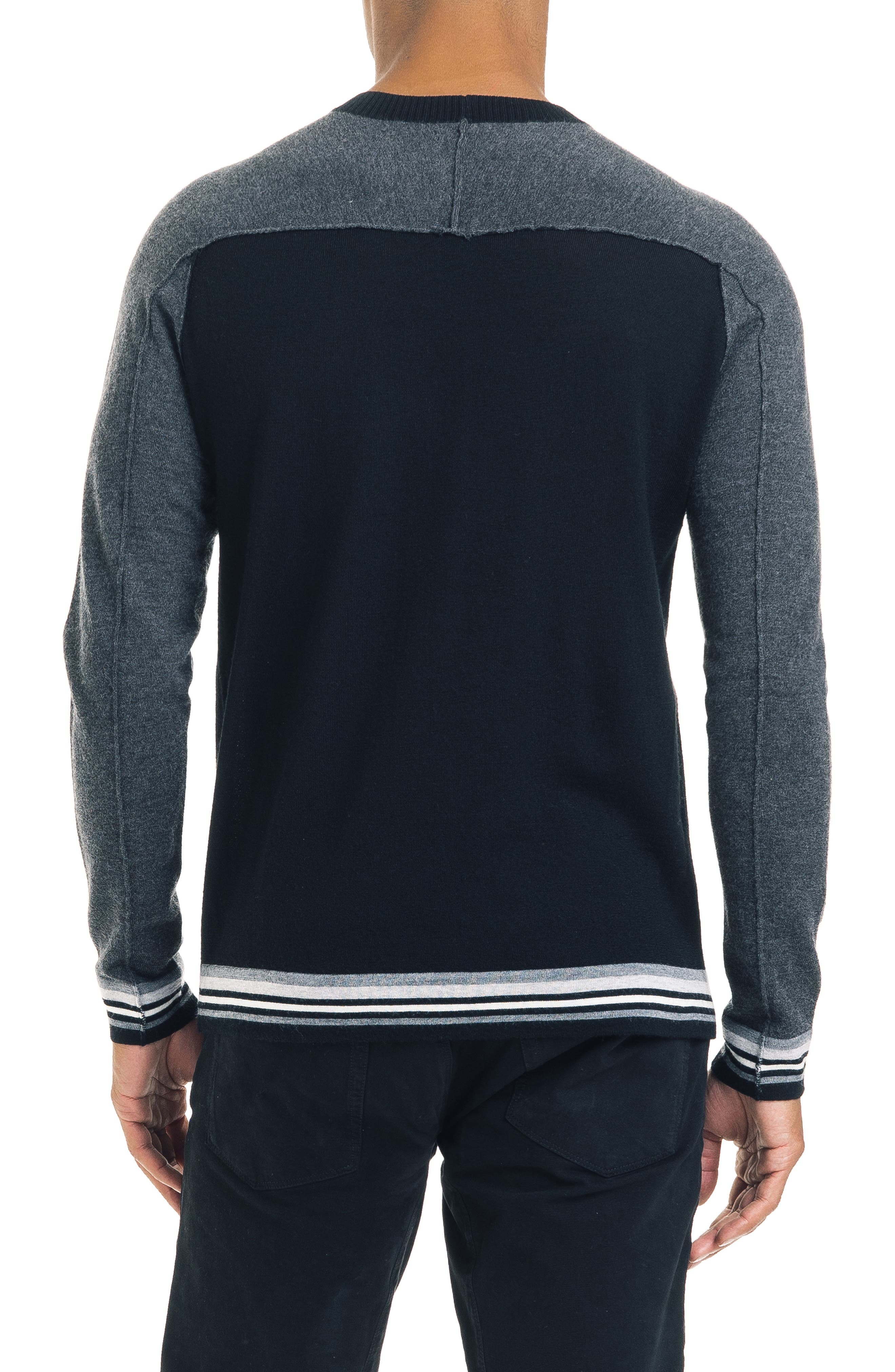 Mix Modern Slim Fit Wool Sweater,                             Alternate thumbnail 2, color,                             BLACK