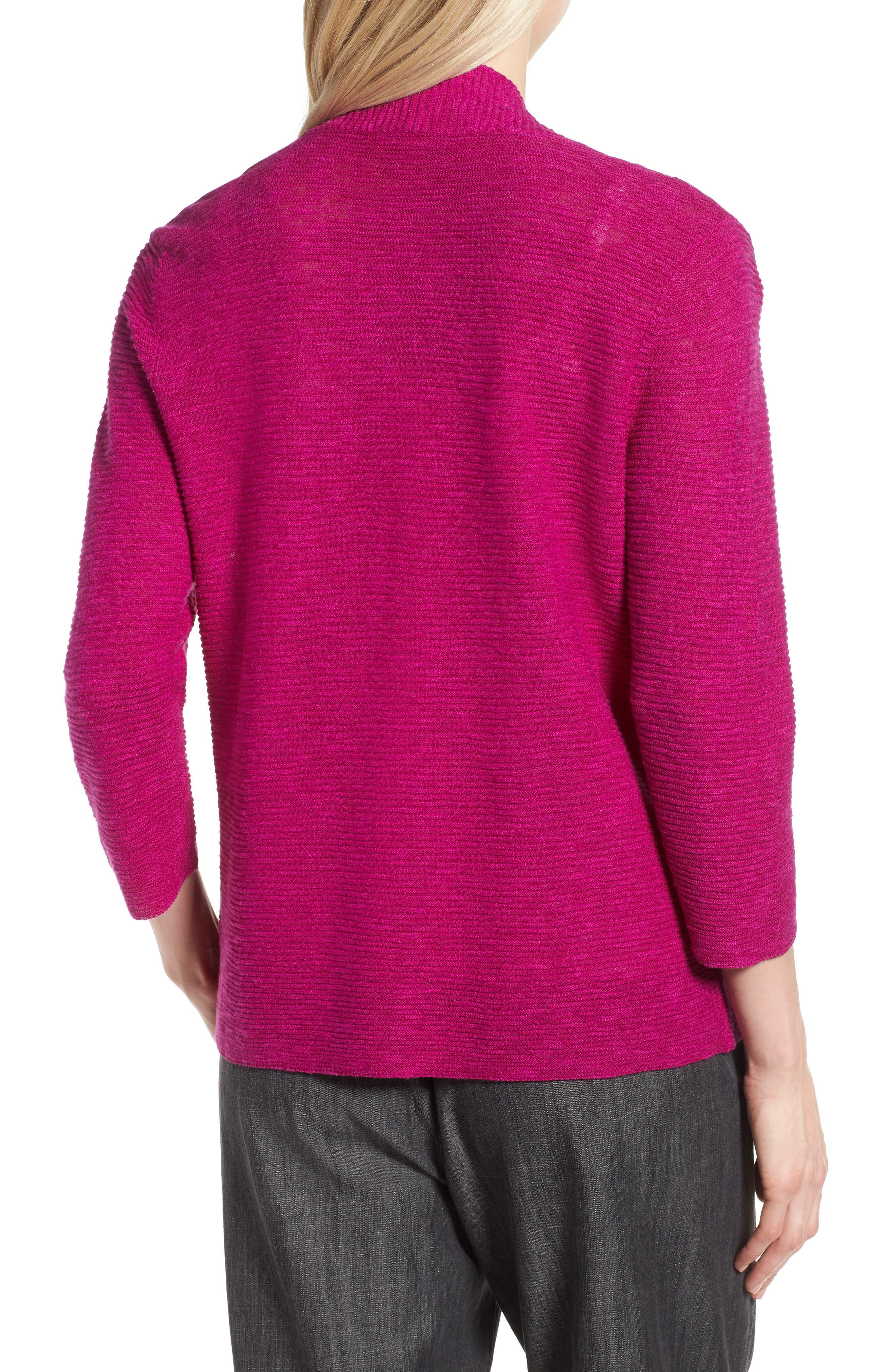 Simple Organic Linen & Cotton Cardigan,                             Alternate thumbnail 7, color,