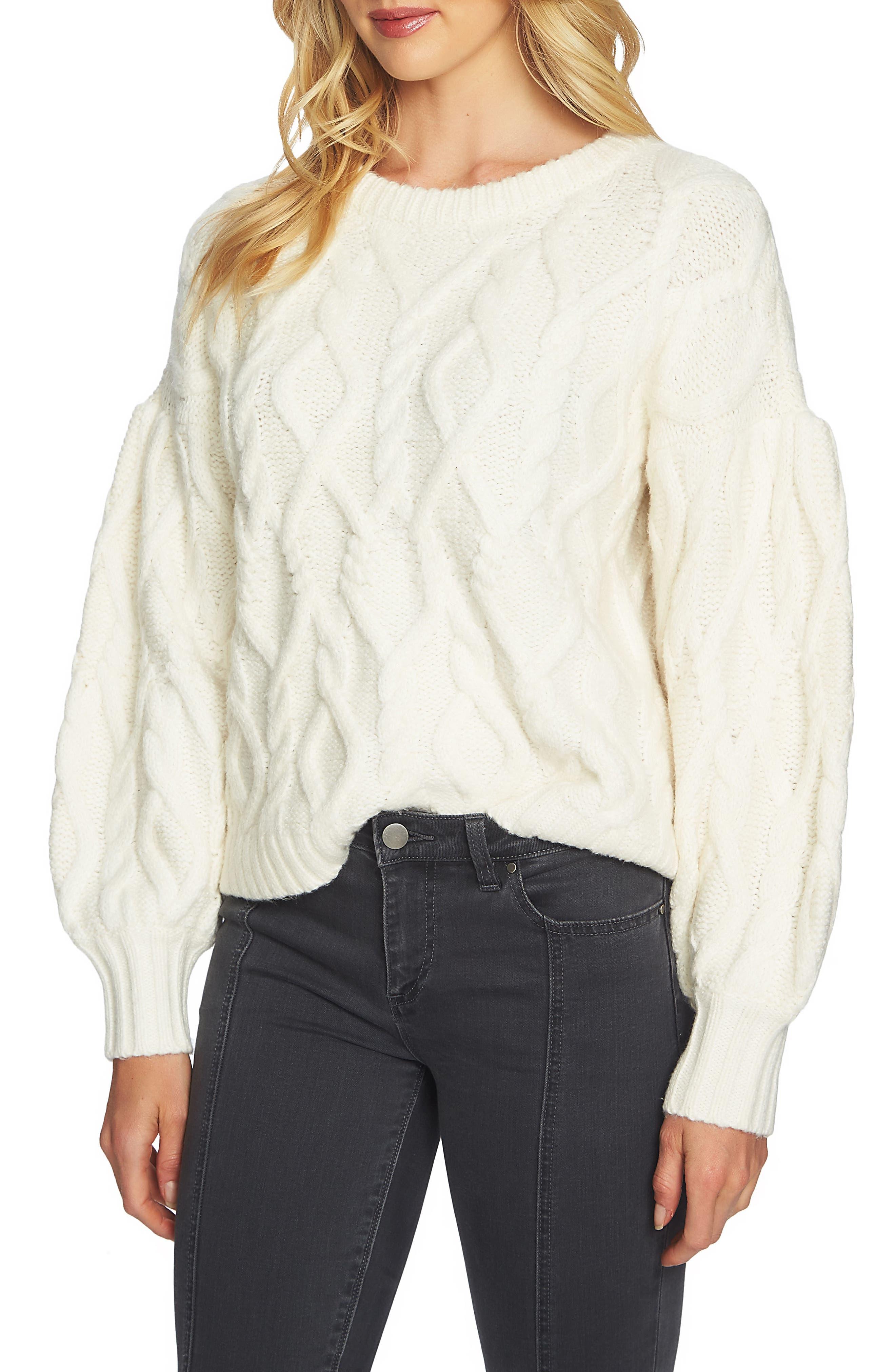 Blouson Sleeve Sweater,                             Main thumbnail 1, color,