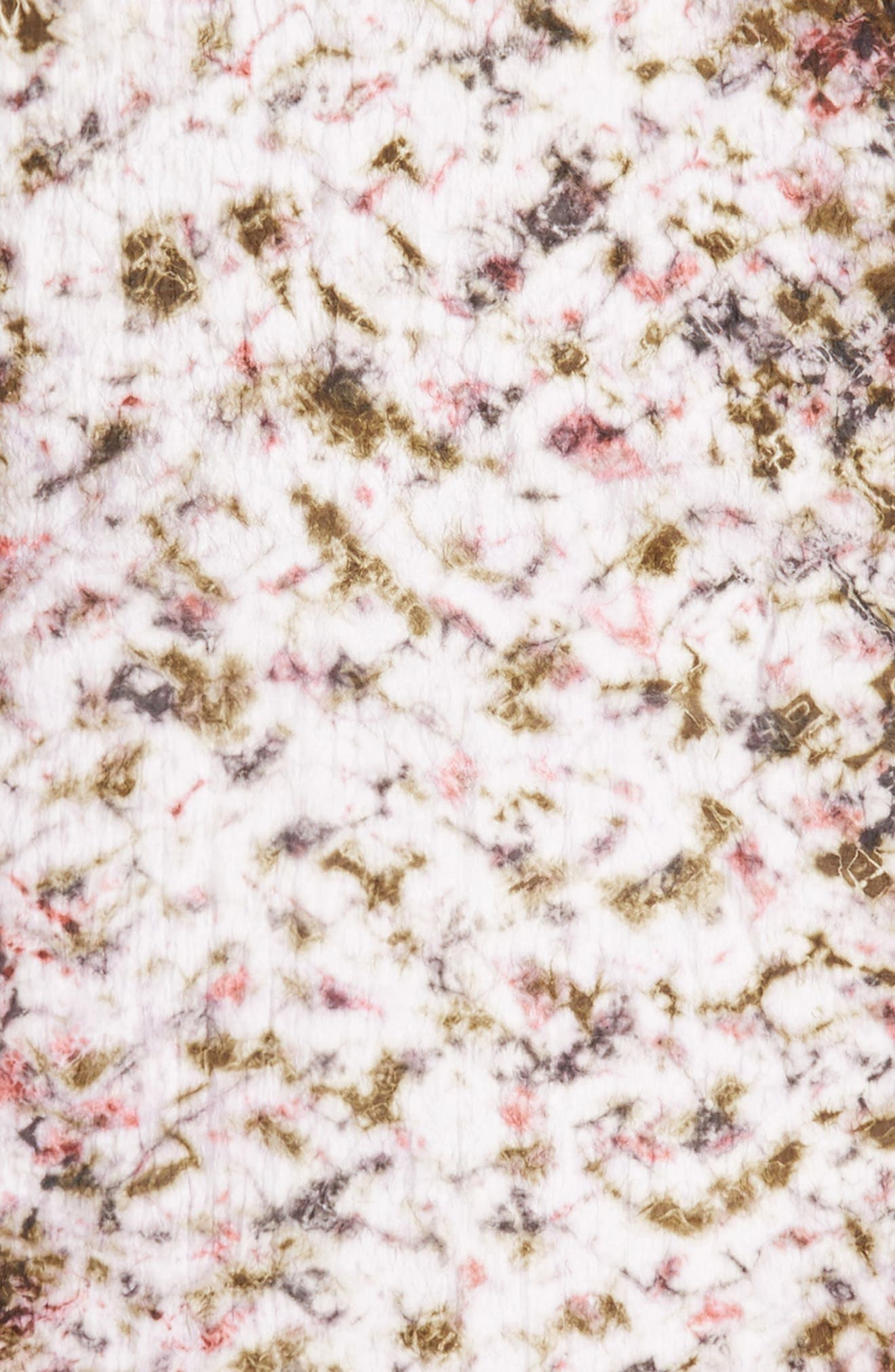 Print Silk Scarf,                             Alternate thumbnail 4, color,