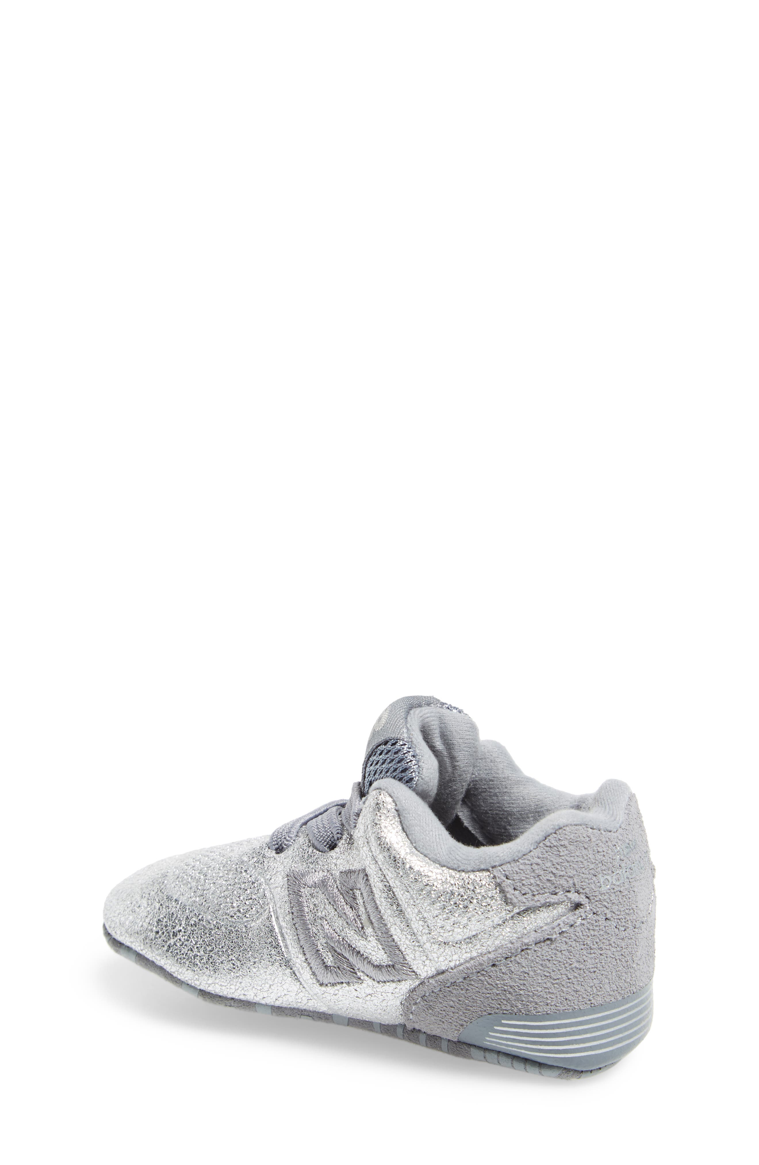 574 Metallic Crib Sneaker,                             Alternate thumbnail 3, color,