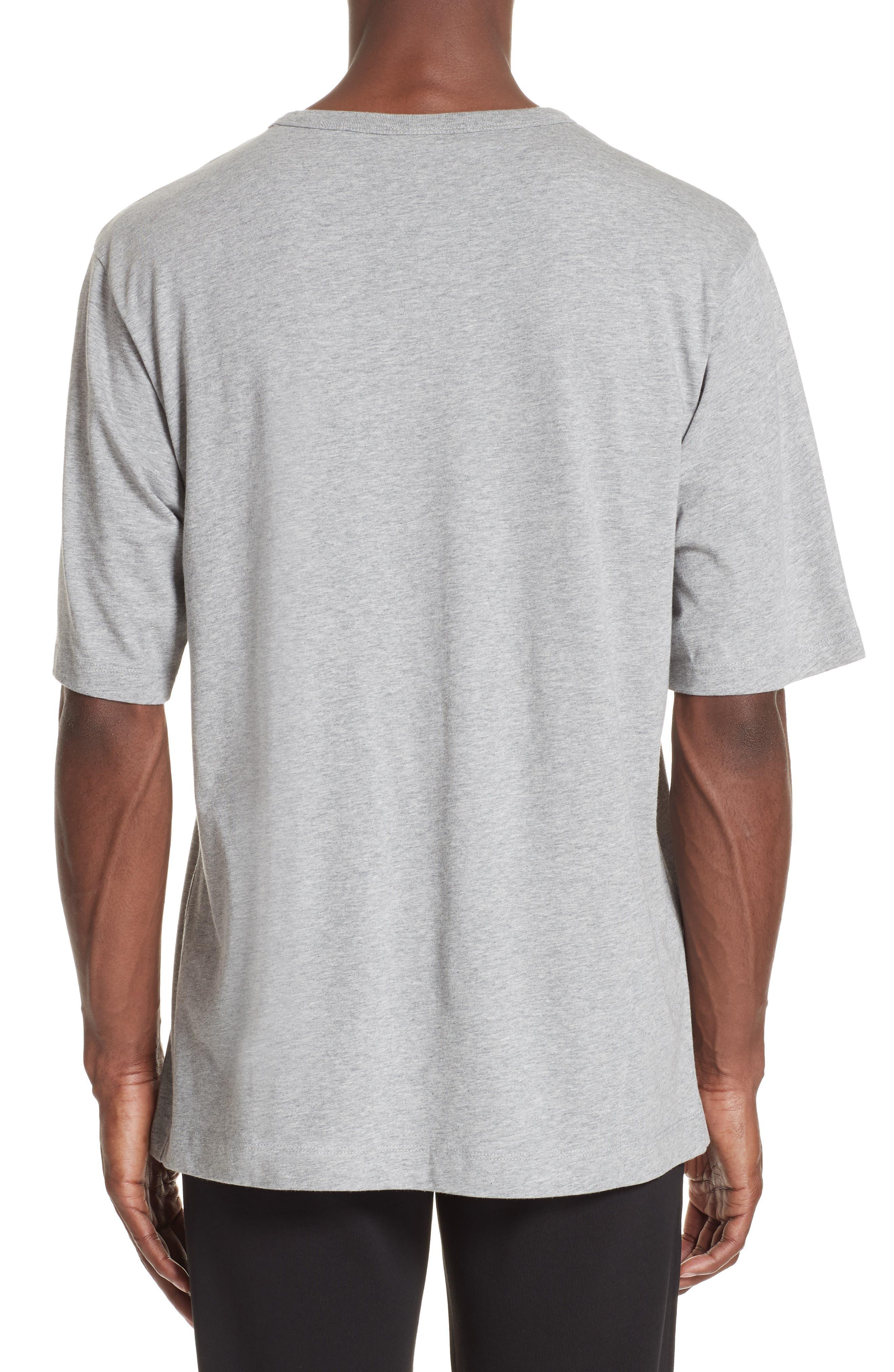 Flower Print T-Shirt,                             Alternate thumbnail 2, color,                             GREY MEL