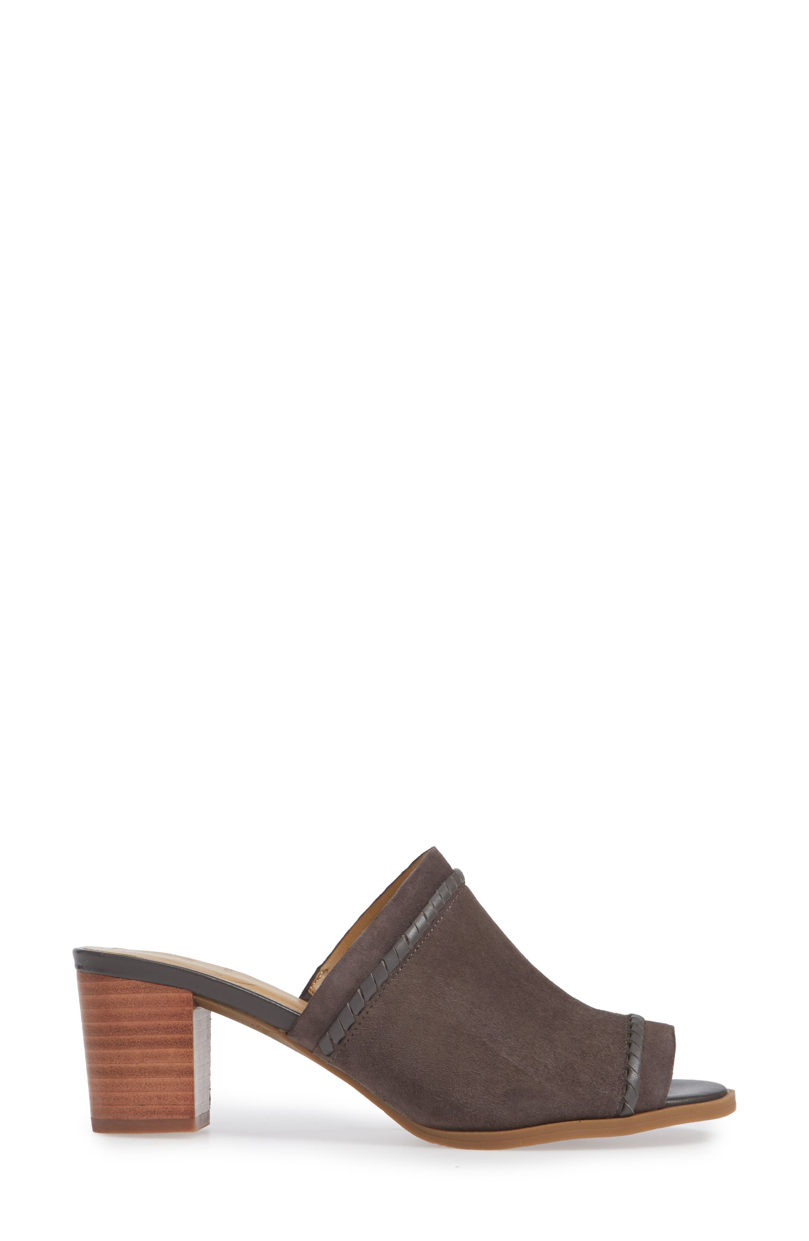 Campbell Mule,                             Alternate thumbnail 3, color,                             CHARCOAL SUEDE