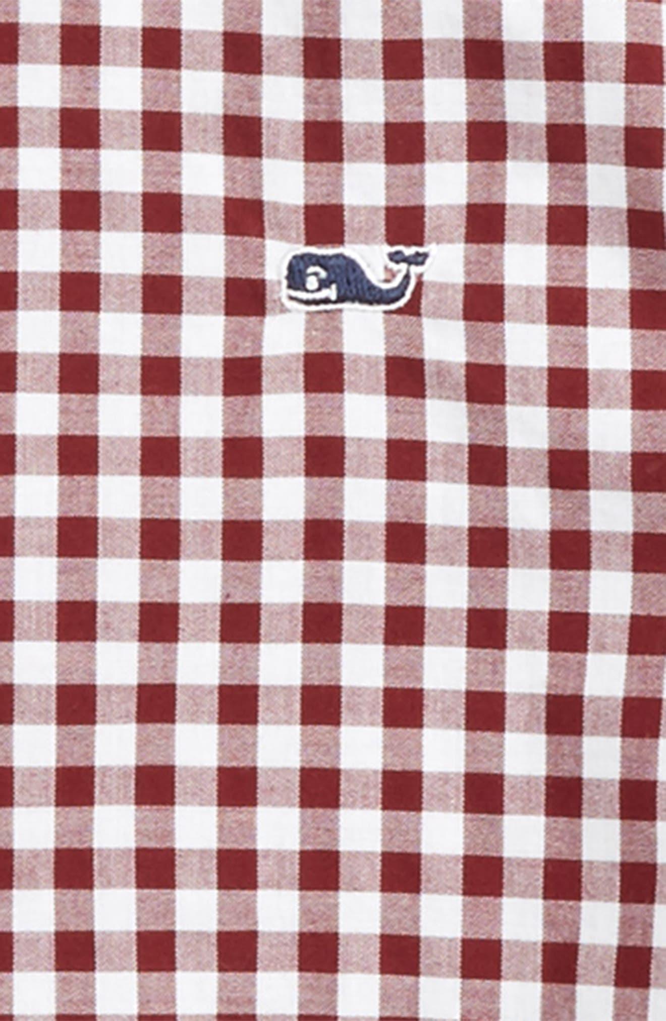 Garden Quarter Gingham Whale Shirt,                             Alternate thumbnail 2, color,                             603