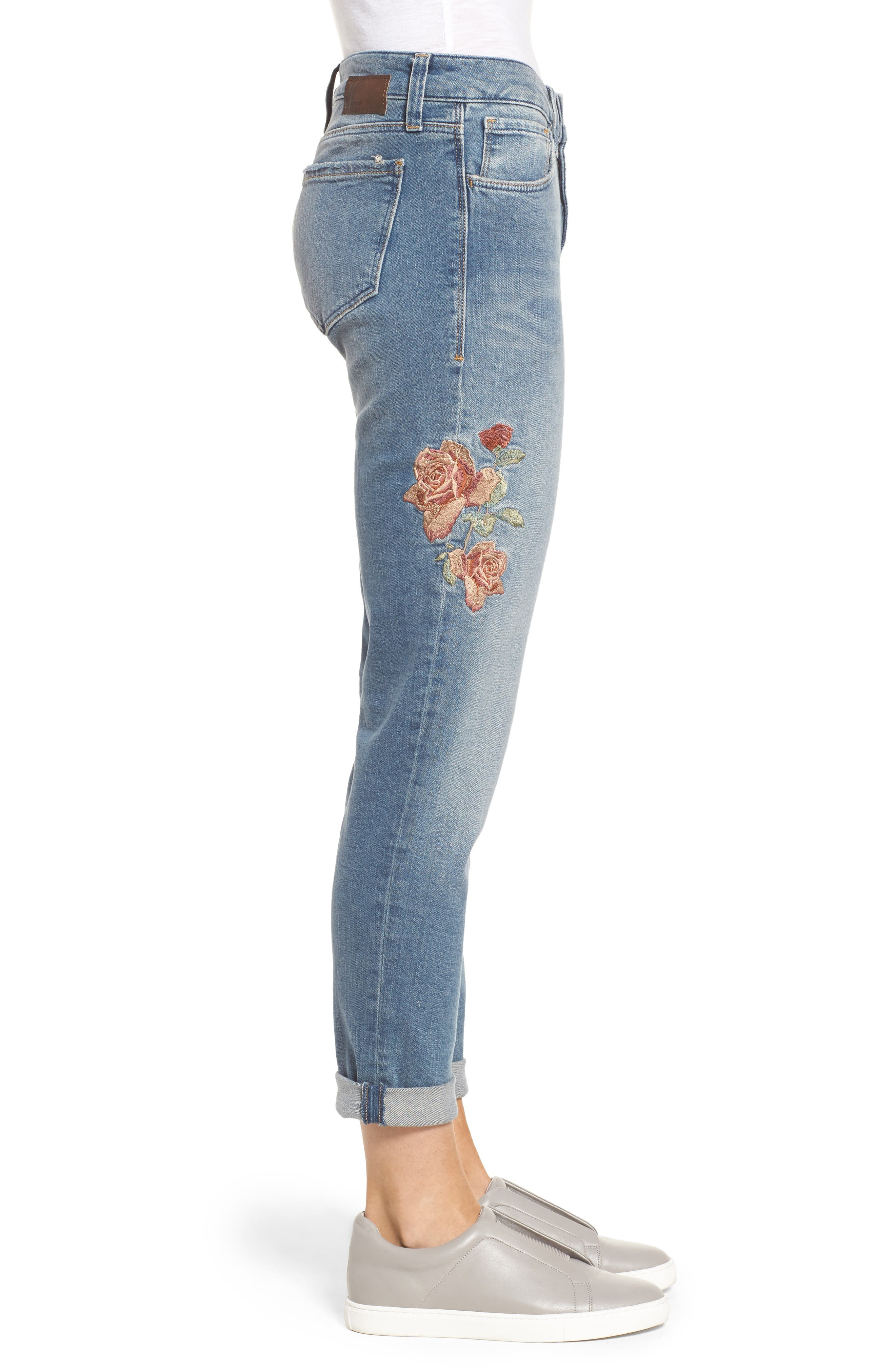 Ada Embroidered Boyfriend Jeans,                             Alternate thumbnail 3, color,                             420