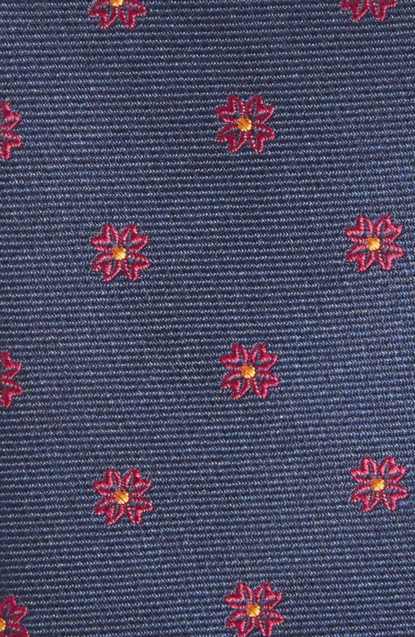 Floral Span Medallion Silk Tie,                             Alternate thumbnail 6, color,