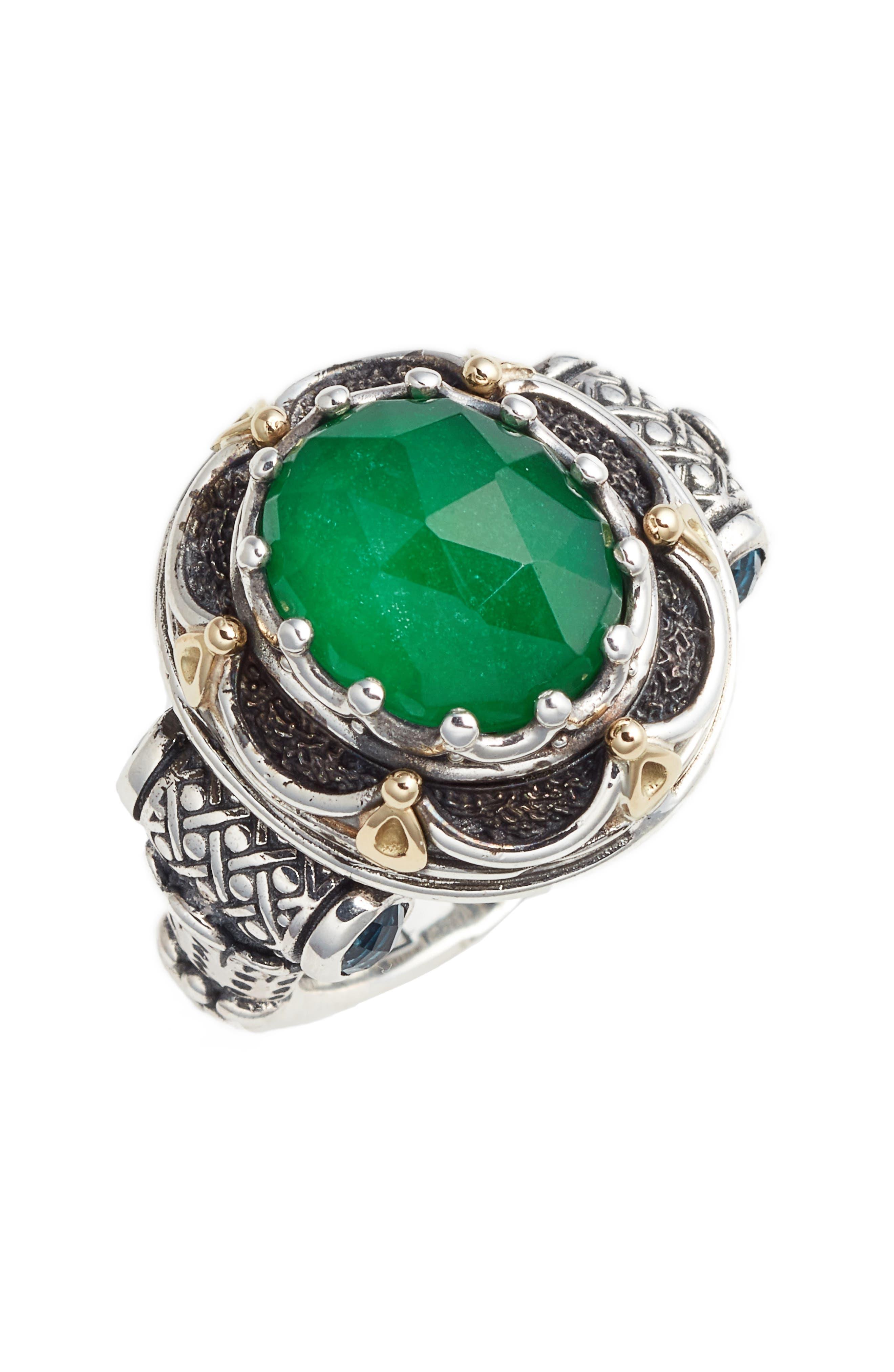 Nemesis Semiprecious Stone Ring,                         Main,                         color,