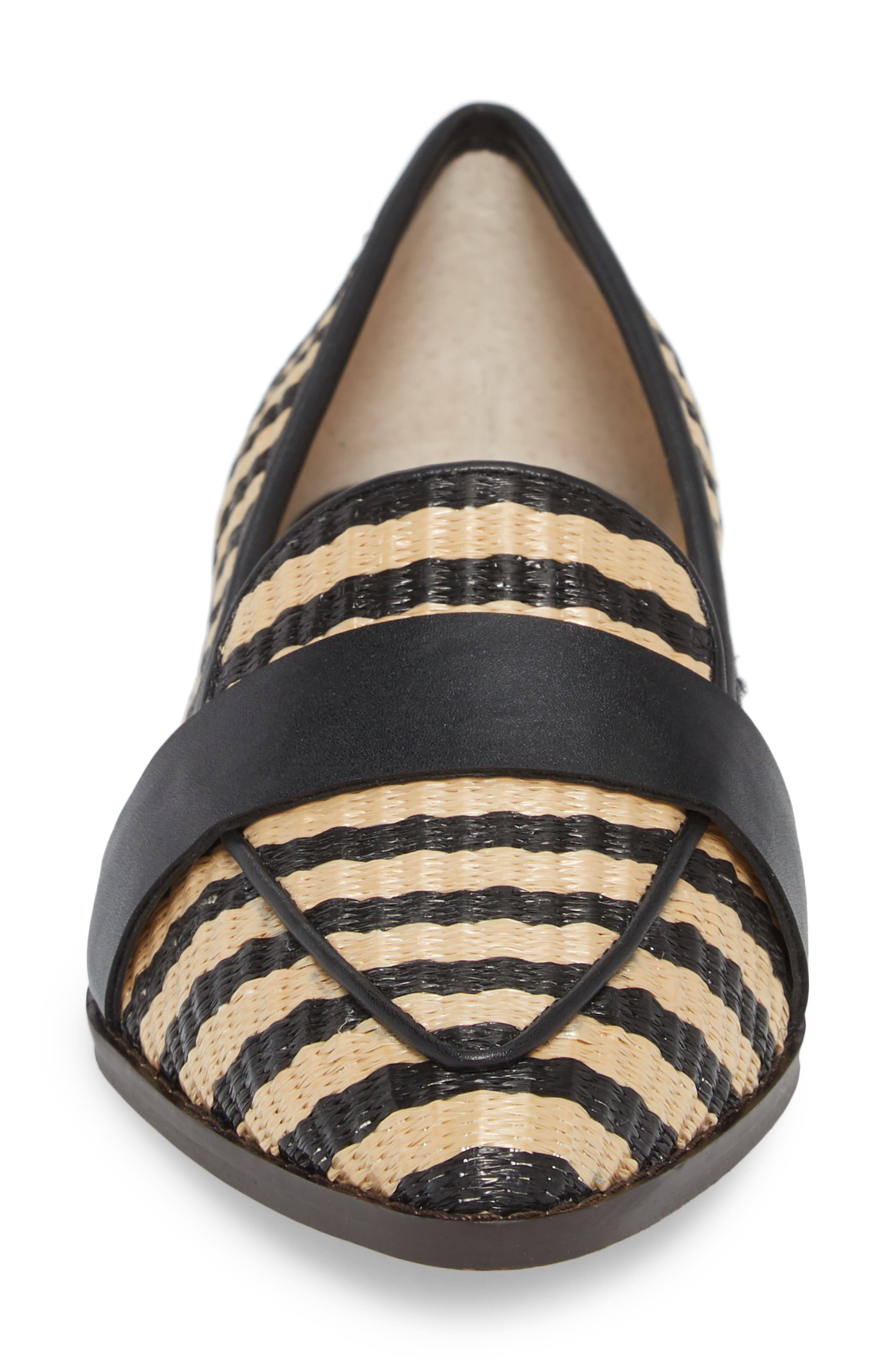 SOLE SOCIETY,                             Edie Loafer,                             Alternate thumbnail 4, color,                             NATURAL/ BLACK