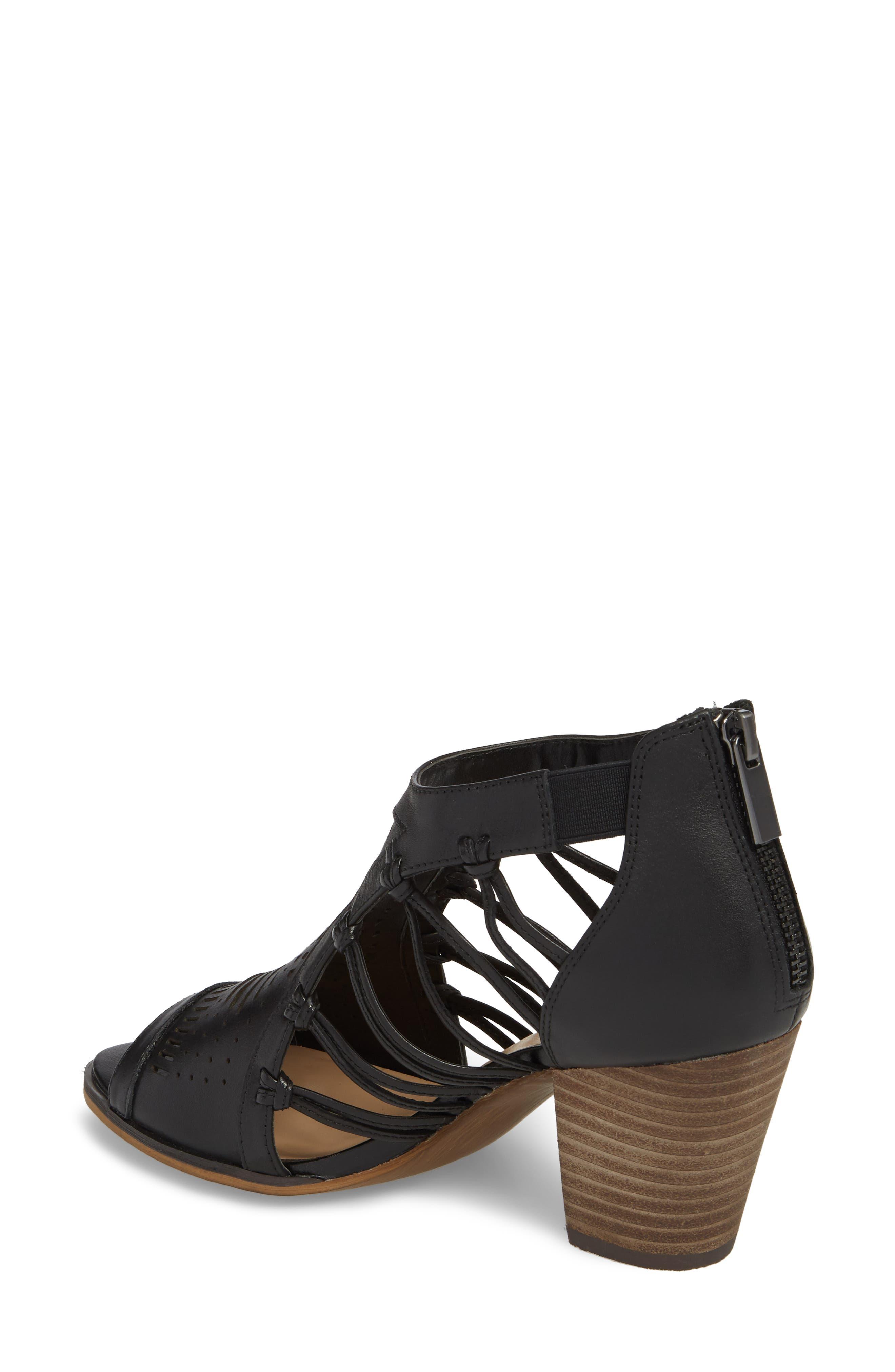 Kortez Block Heel Sandal,                             Alternate thumbnail 2, color,                             BLACK LEATHER