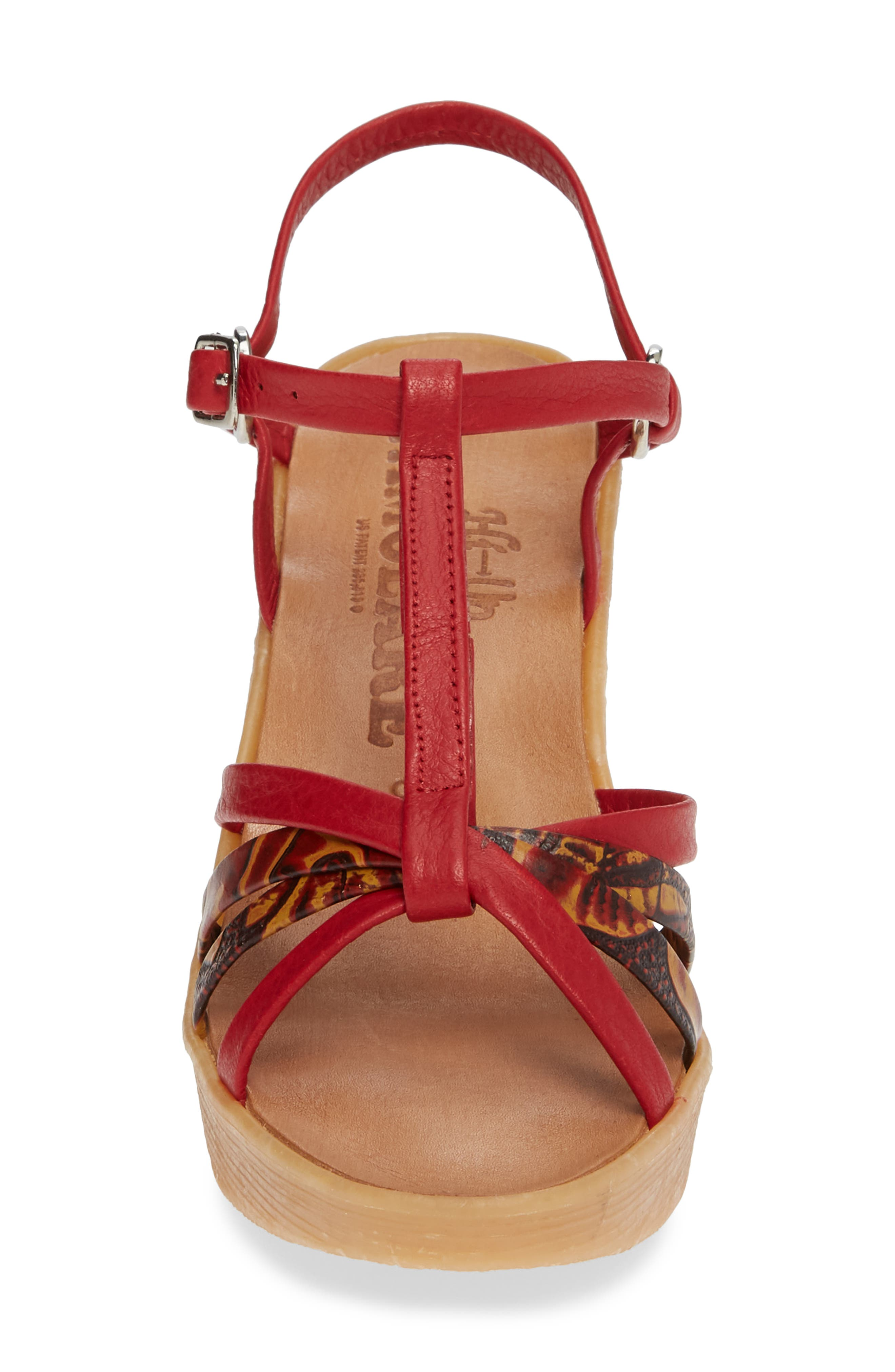 FAMOLARE,                             To a Tee Wedge Sandal,                             Alternate thumbnail 4, color,                             CORAL LEATHER