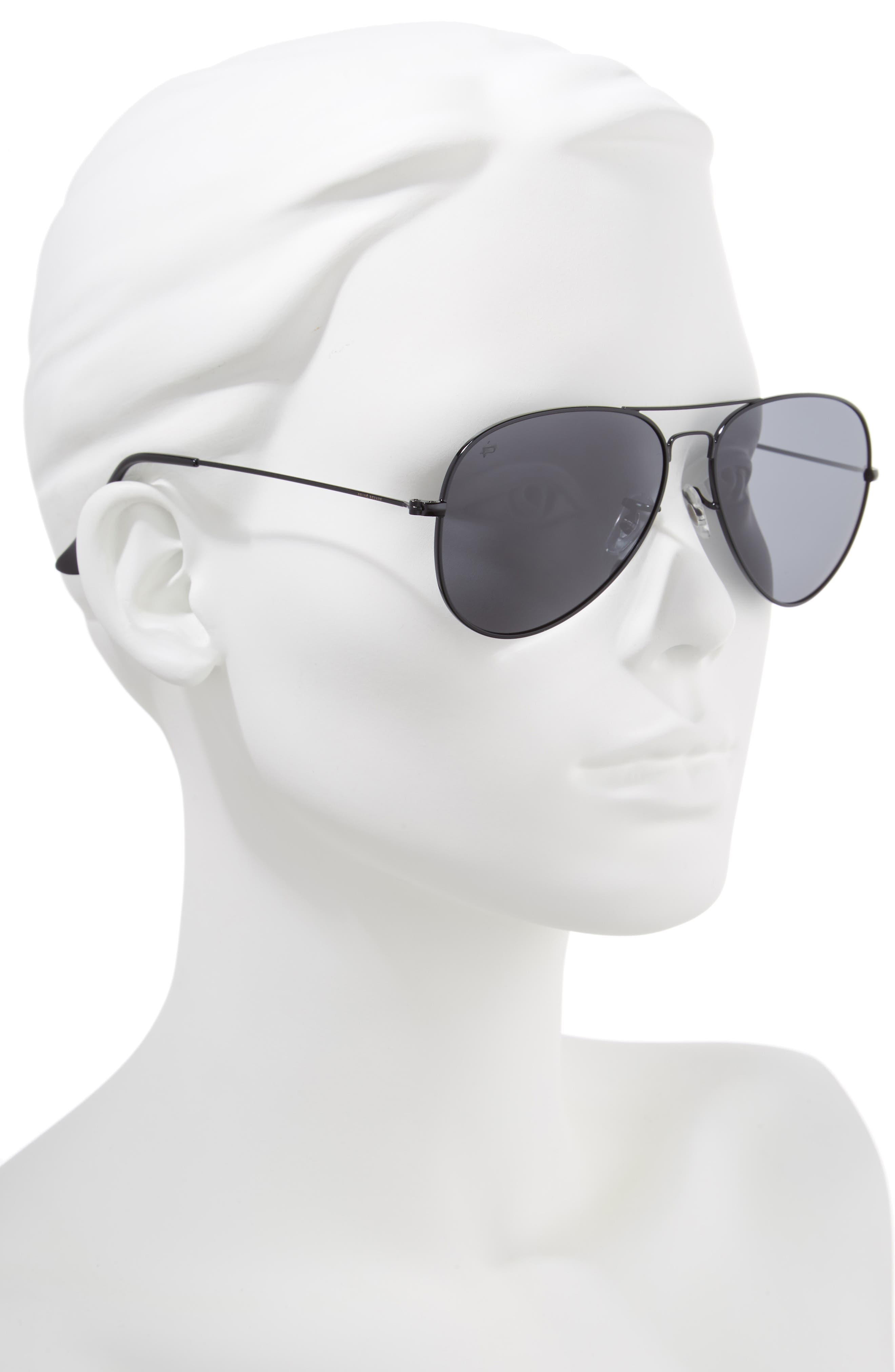 The Commando 60mm Aviator Sunglasses,                             Alternate thumbnail 2, color,                             001