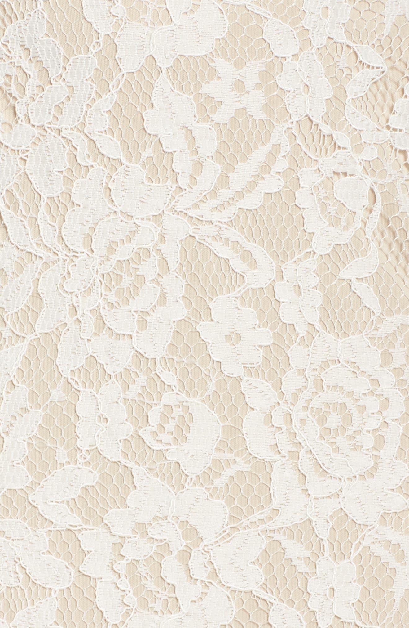 Illusion Lace Column Gown,                             Alternate thumbnail 8, color,