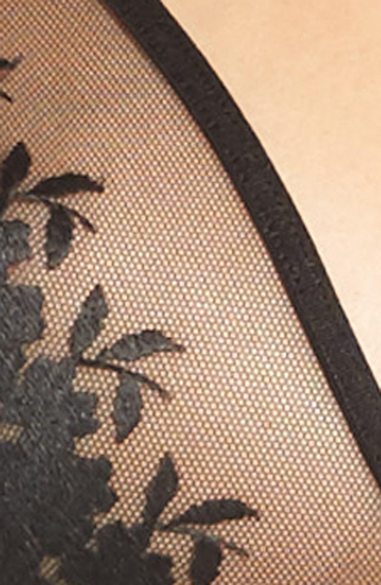 Eternal Lace Racerback Bralette,                             Alternate thumbnail 4, color,                             001