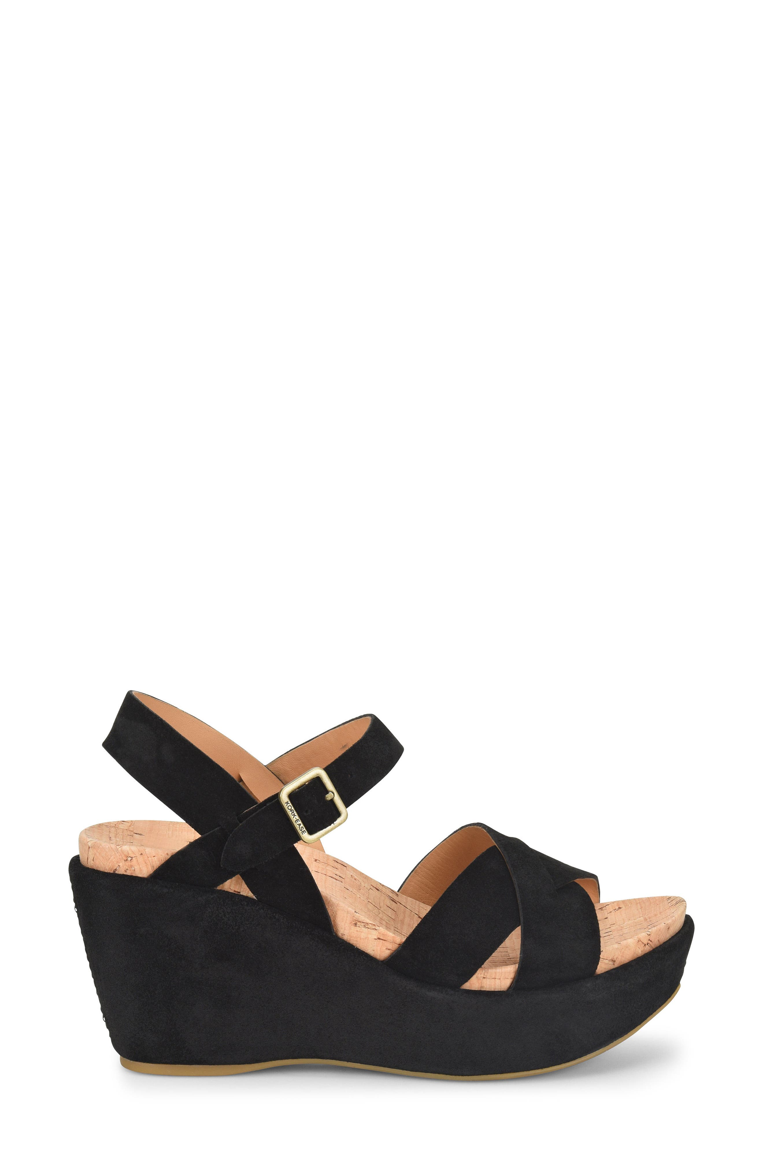 'Ava 2.0' Platform Wedge Sandal,                             Alternate thumbnail 3, color,                             BLACK SUEDE 2