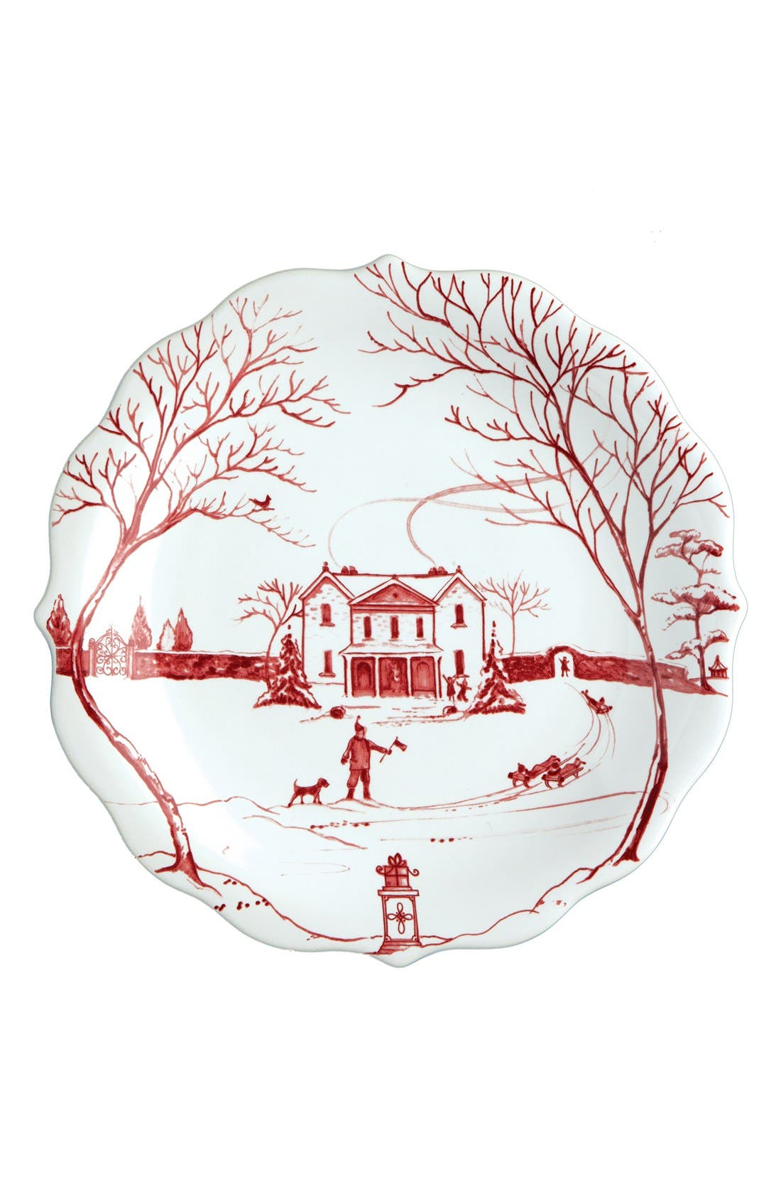 'Country Estate Ruby' Ceramic Party Plates,                             Alternate thumbnail 6, color,                             RUBY
