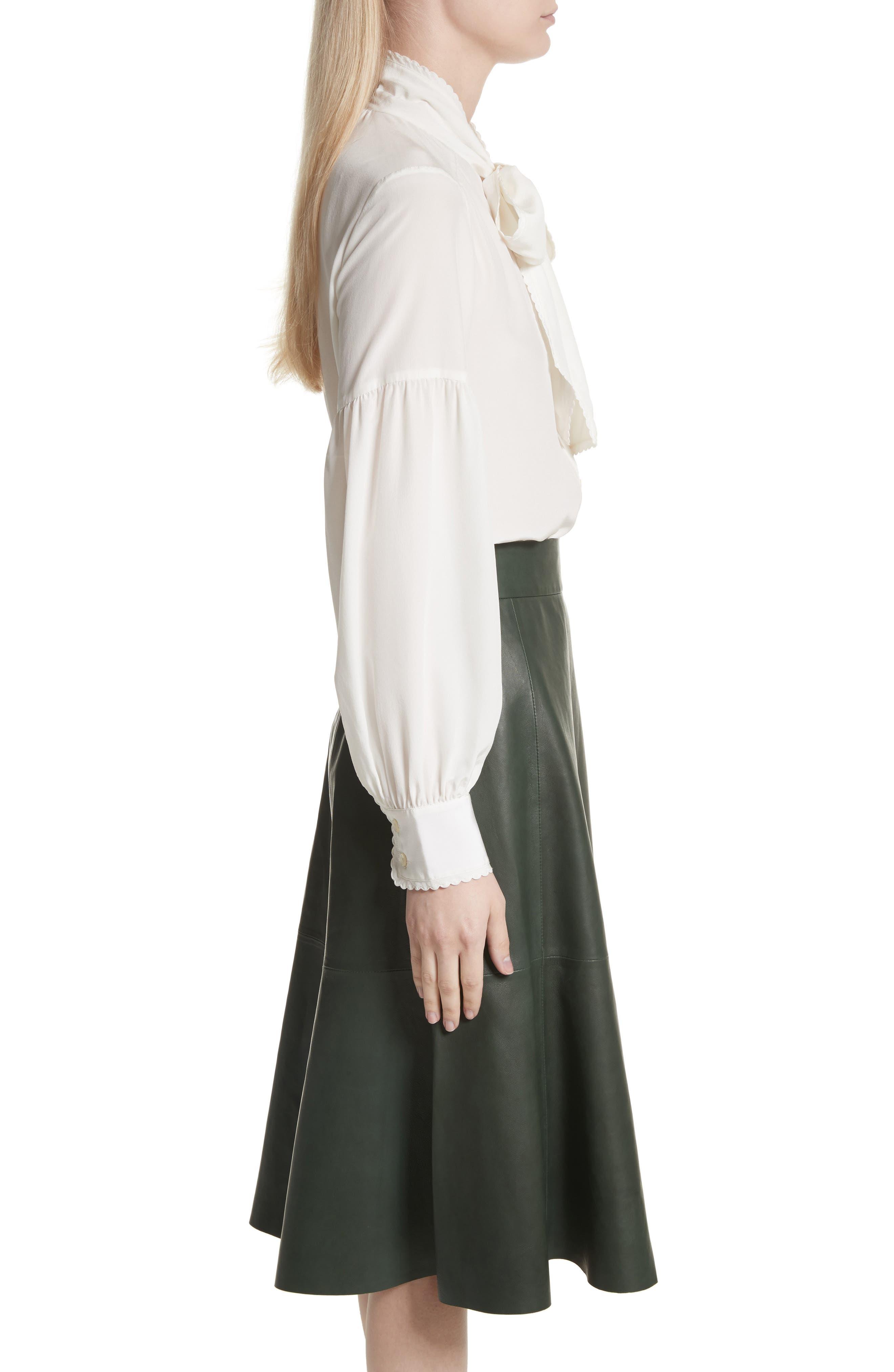 myrah tie neck silk blouse,                             Alternate thumbnail 3, color,                             902