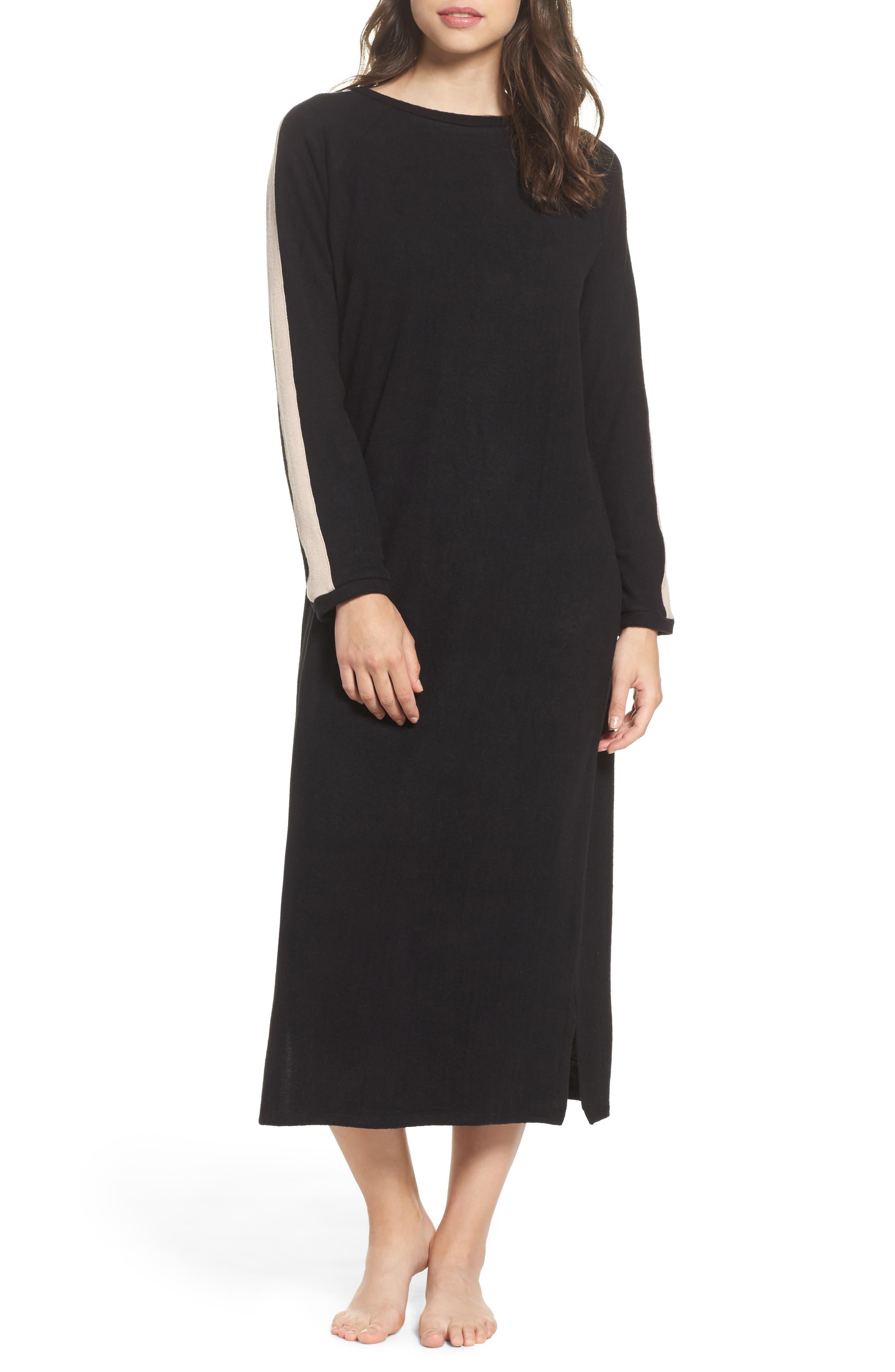 Maxi Nightgown,                             Main thumbnail 1, color,                             001