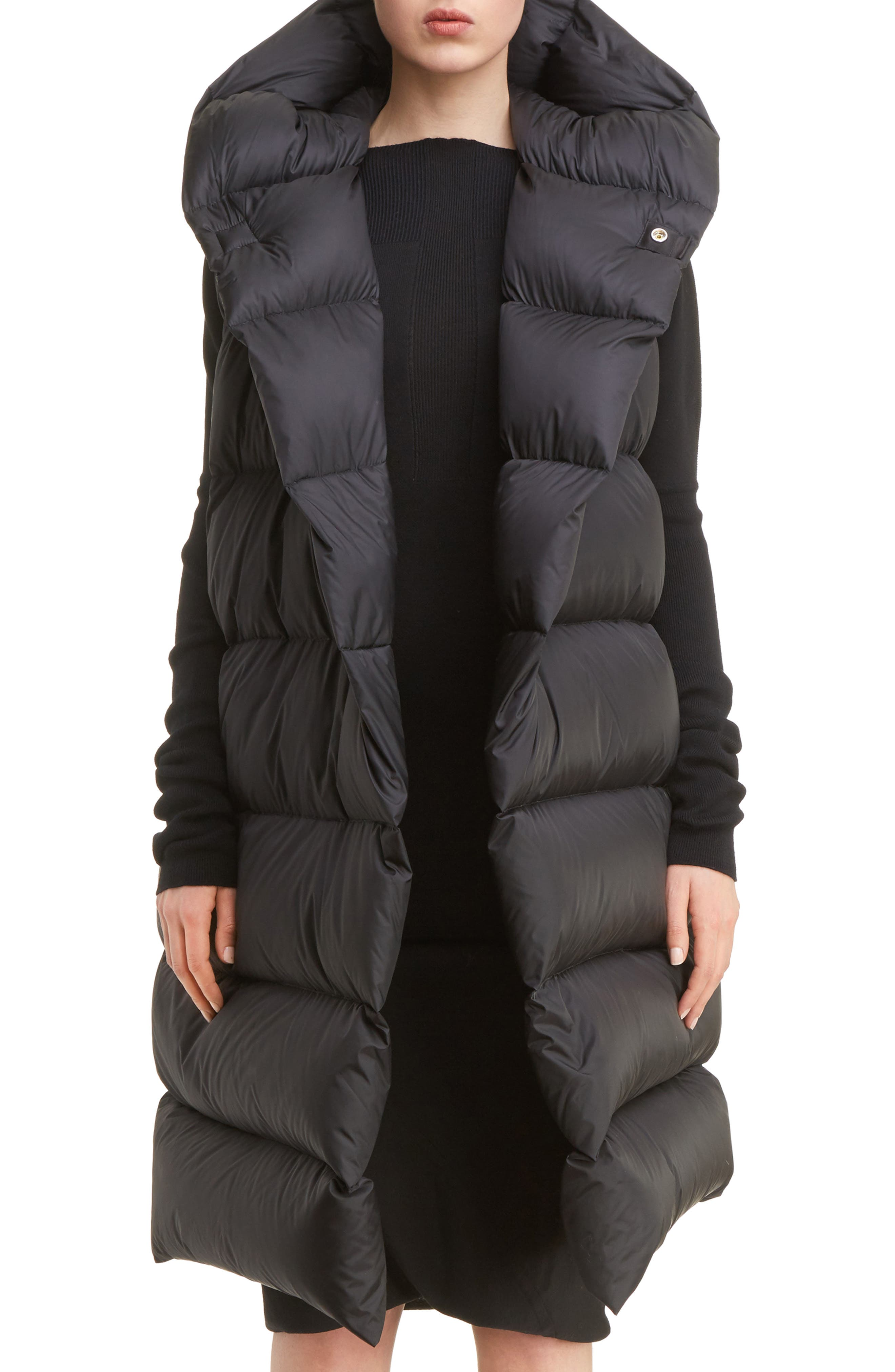 Oversized Down Puffer Vest,                             Main thumbnail 1, color,                             009