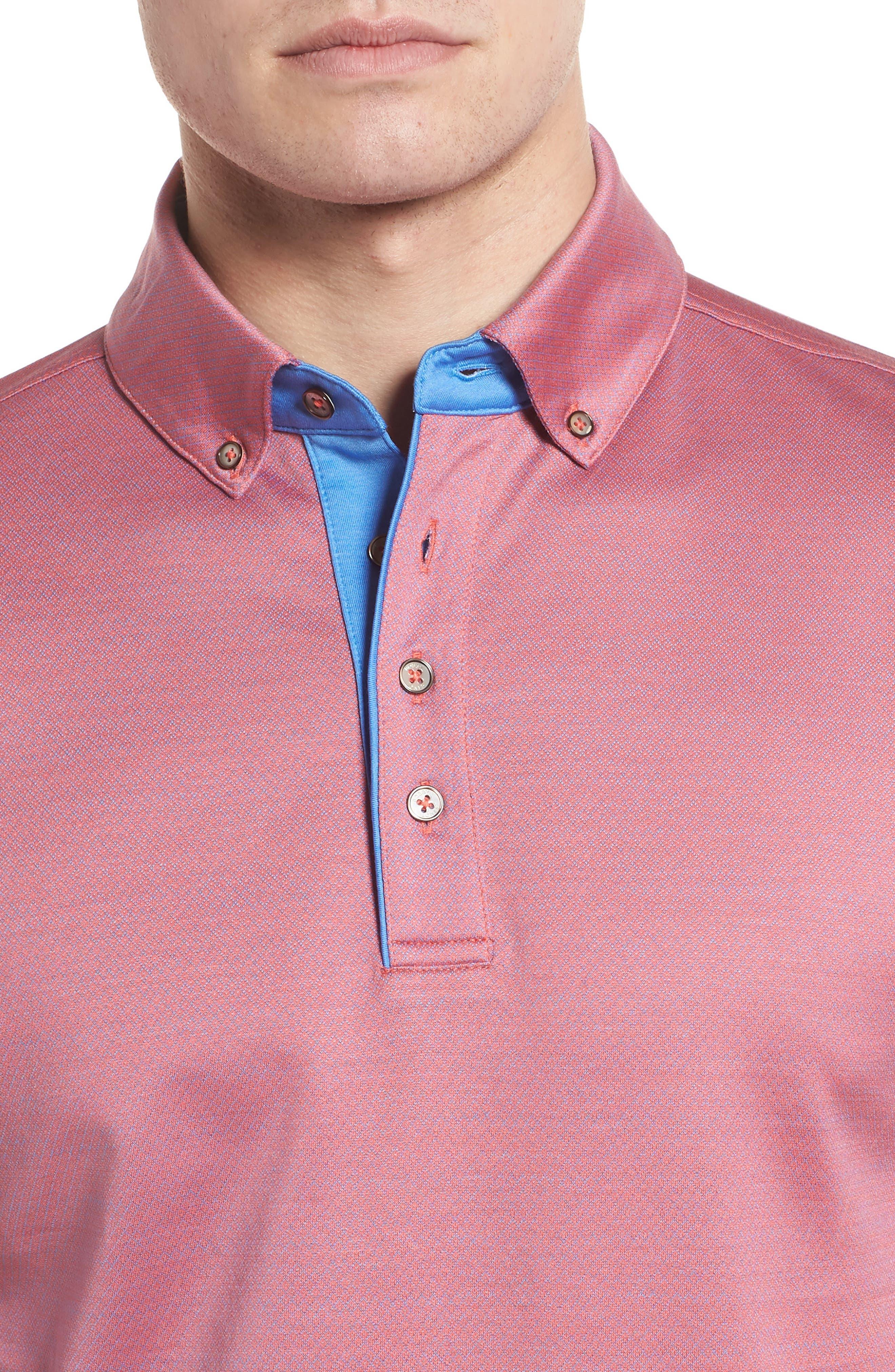 Mercerized Cotton Jacquard Polo,                             Alternate thumbnail 16, color,