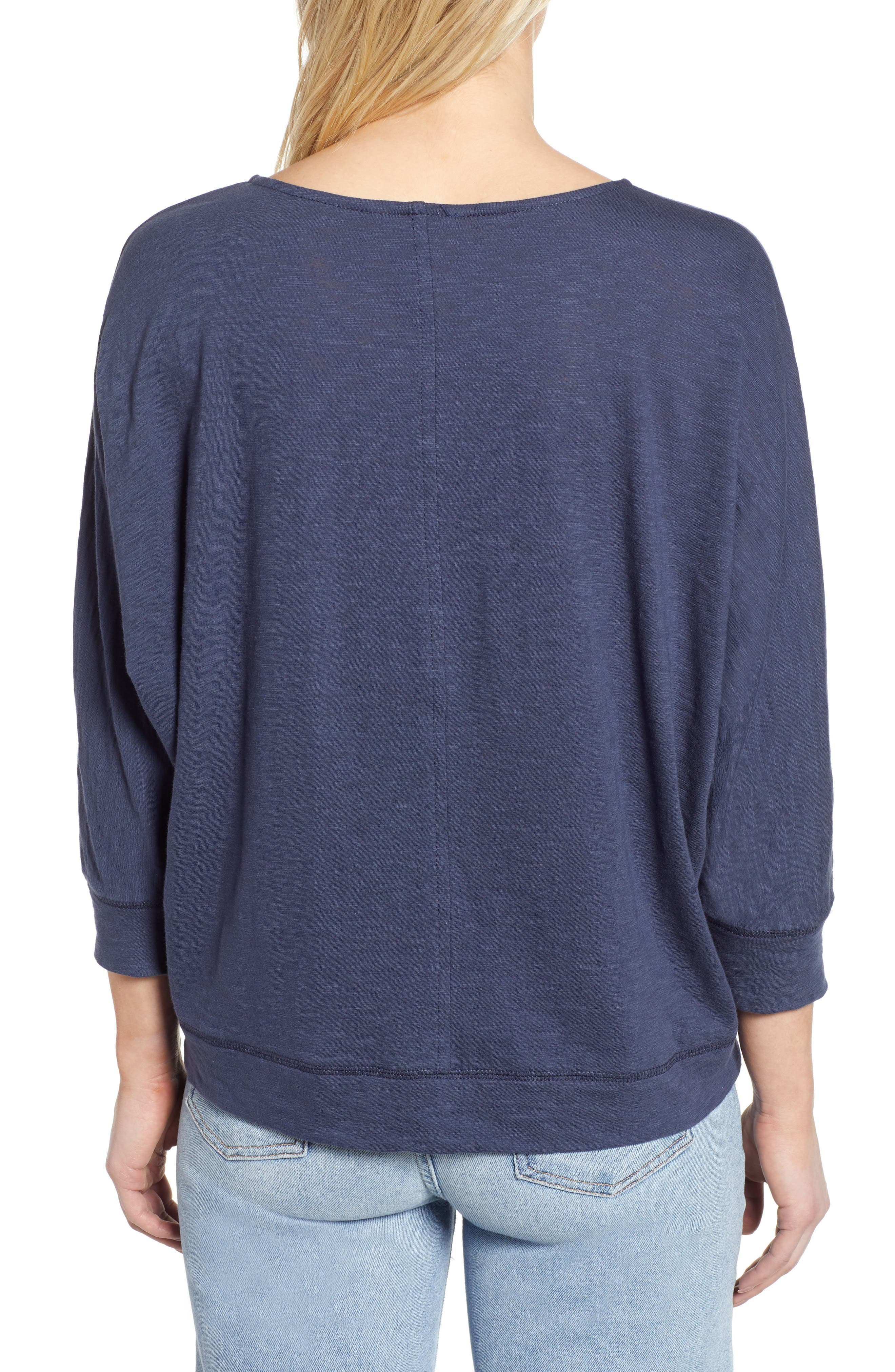 CASLON<SUP>®</SUP>,                             Off-Duty Dolman Sleeve Tee,                             Alternate thumbnail 2, color,                             NAVY PEACOAT