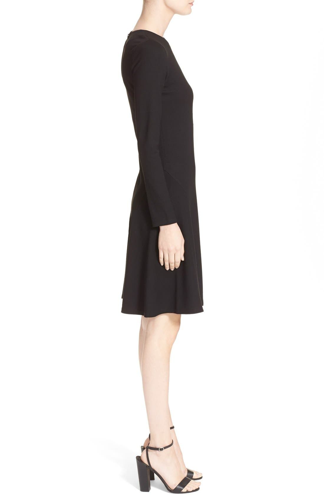 'Mloyd' Stretch Jersey Fit & Flare Dress,                             Alternate thumbnail 4, color,                             001