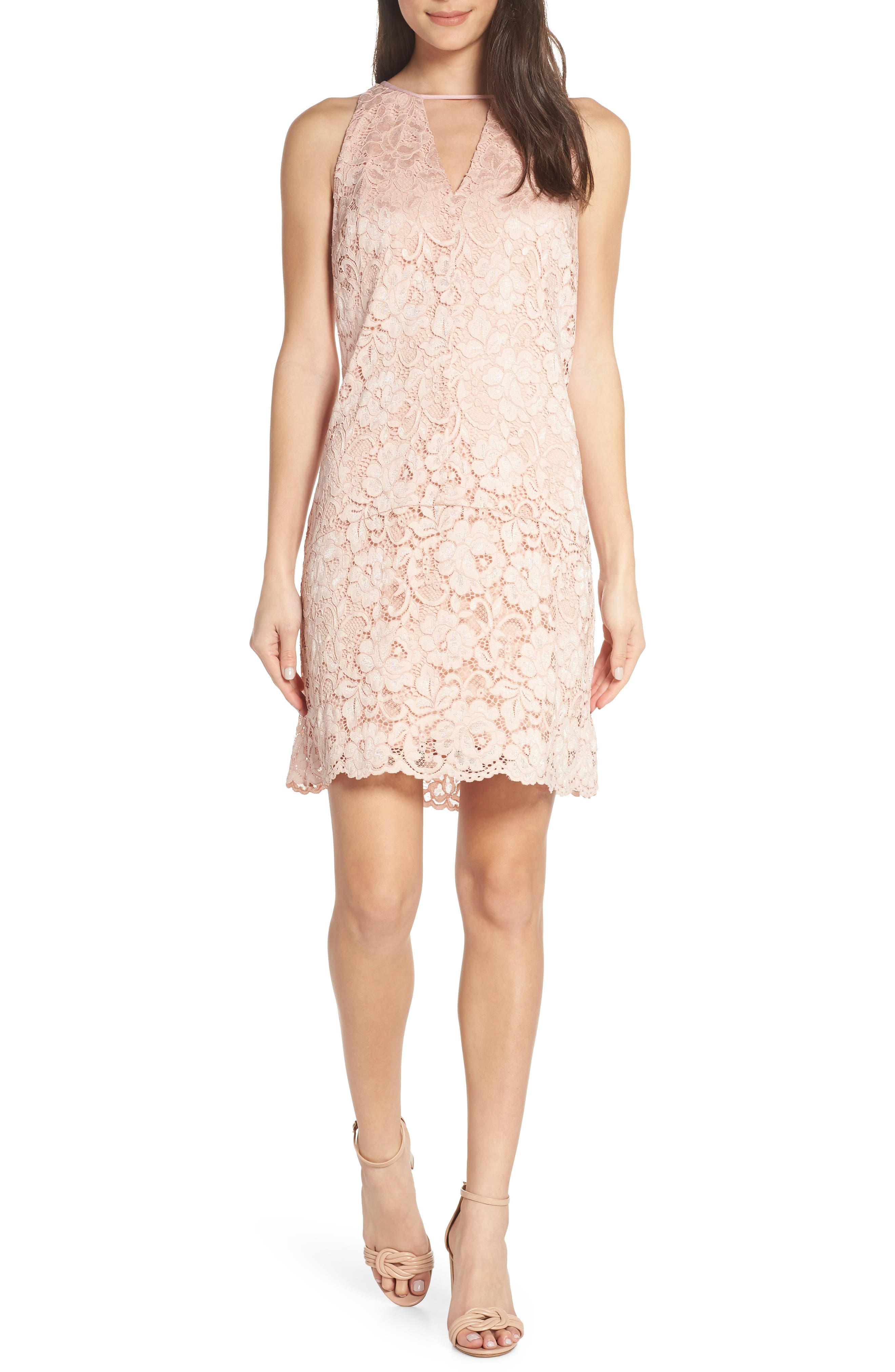 Sam Edelman Lace Shift Dress, Pink