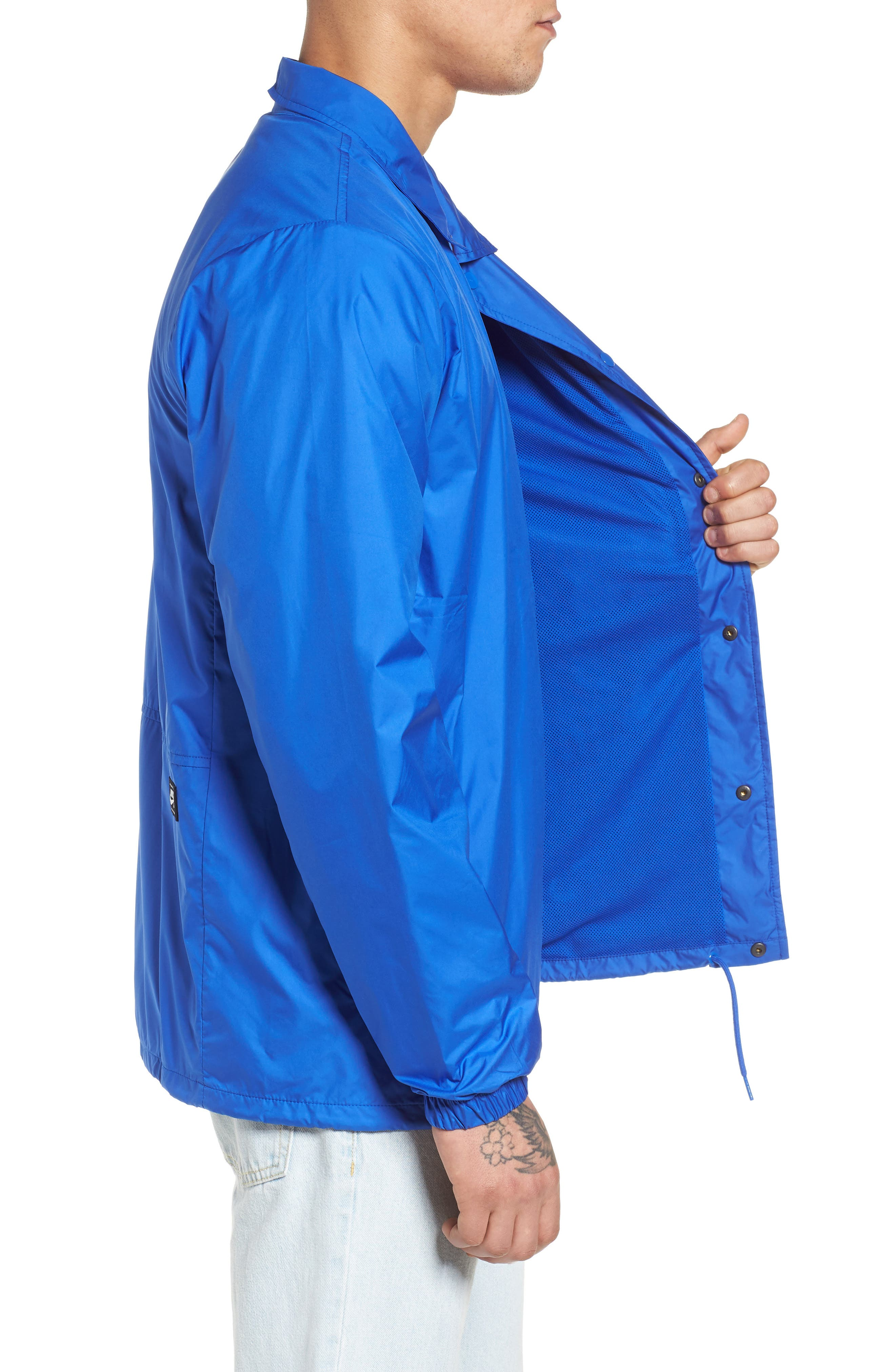 SB Shield Coach's Jacket,                             Alternate thumbnail 3, color,                             HYPER ROYAL/ WHITE