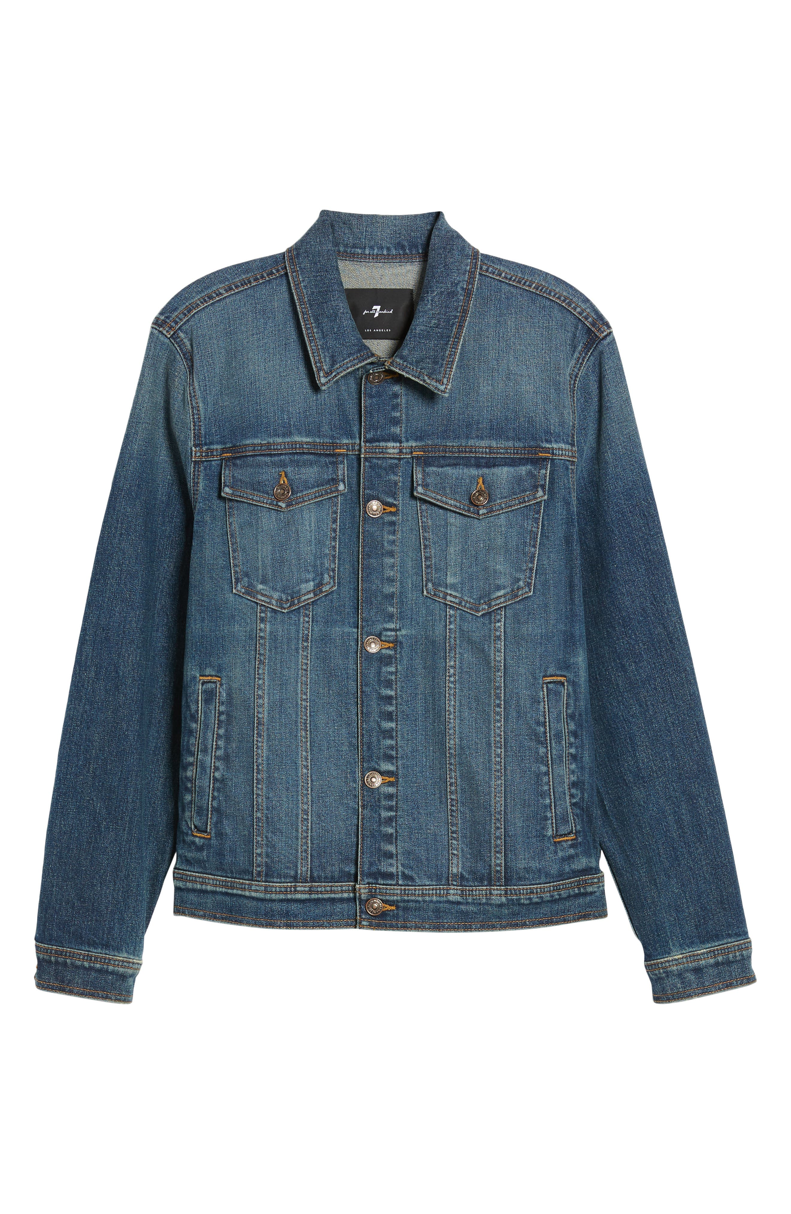 7 FOR ALL MANKIND<SUP>®</SUP>,                             Trucker Jacket,                             Alternate thumbnail 6, color,                             400