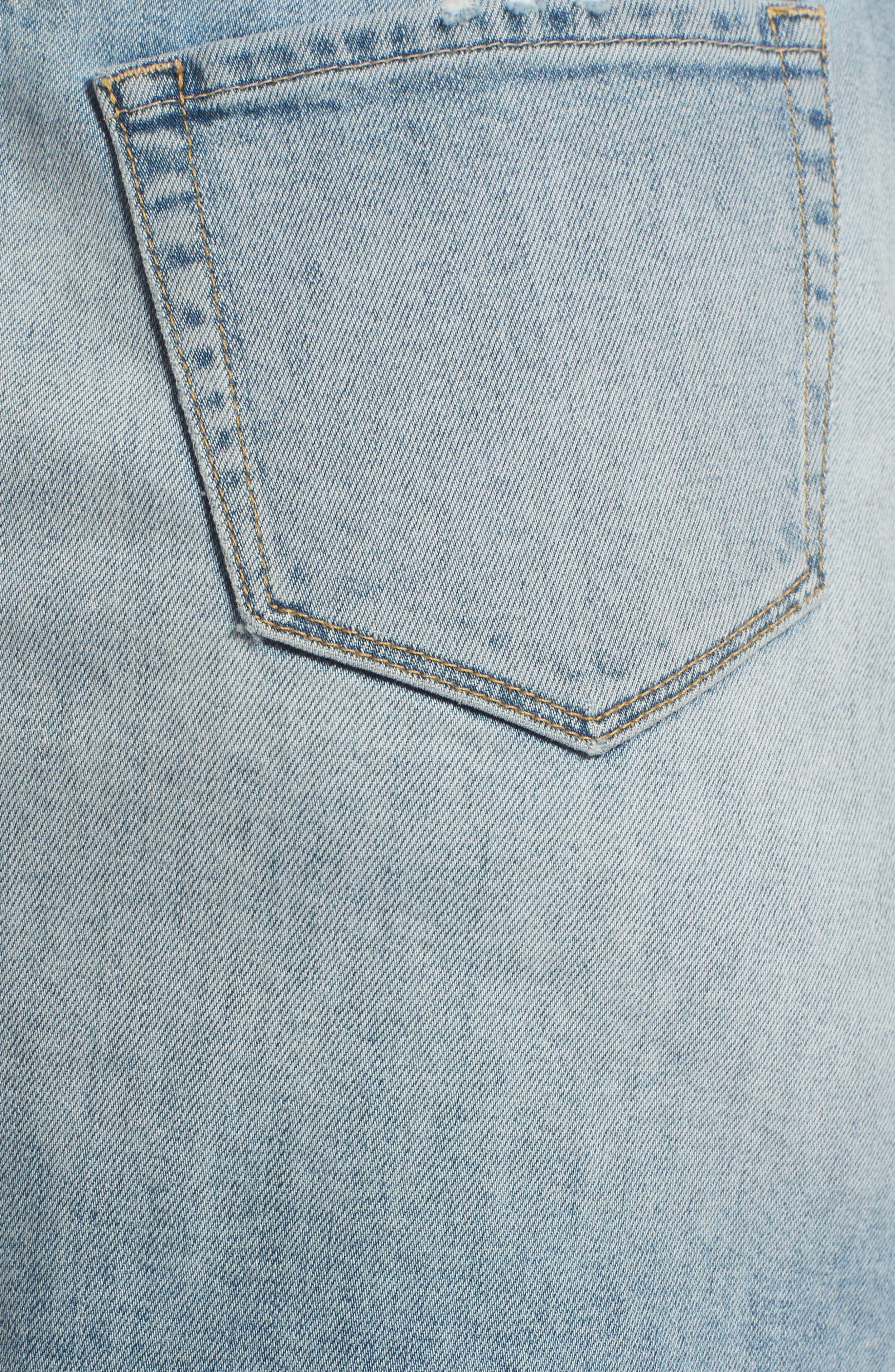 Denim Miniskirt,                             Alternate thumbnail 6, color,                             450