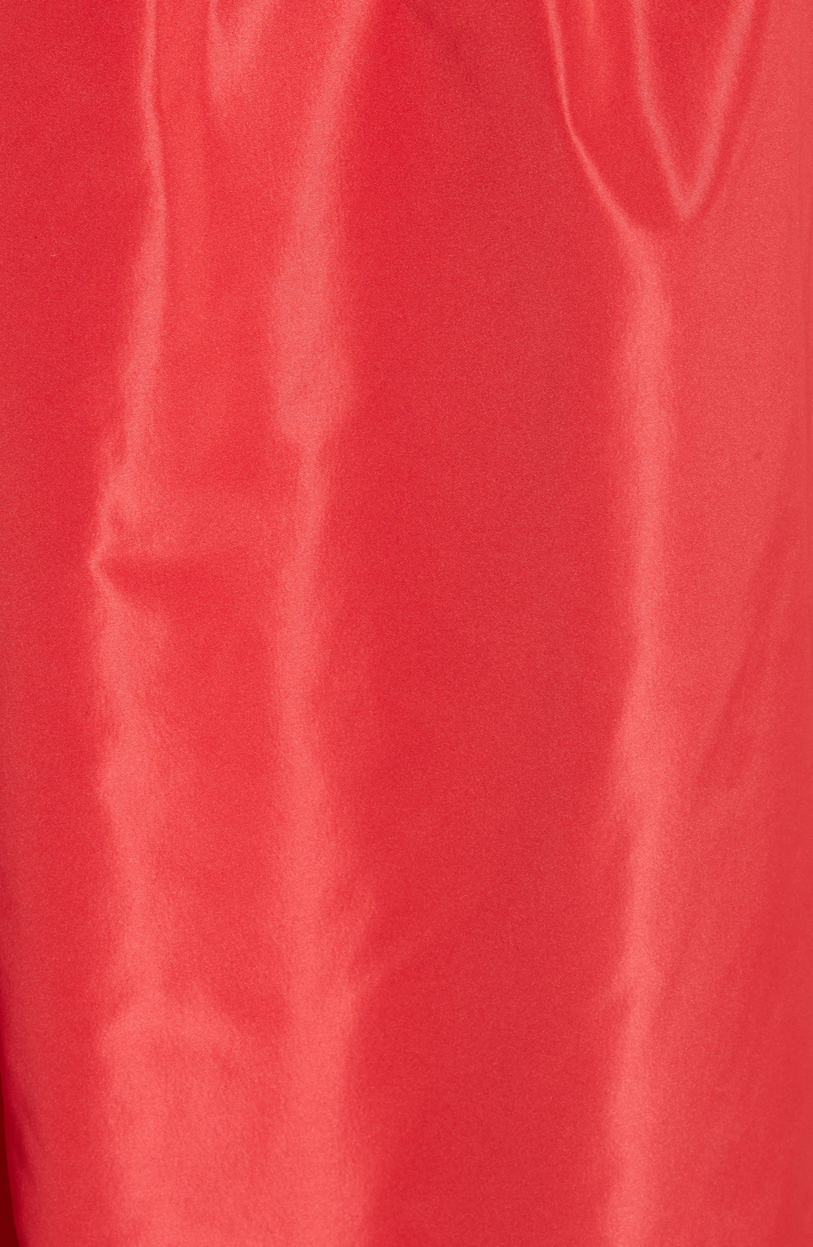 One-Shoulder Ruffle Taffeta Dress,                             Alternate thumbnail 5, color,