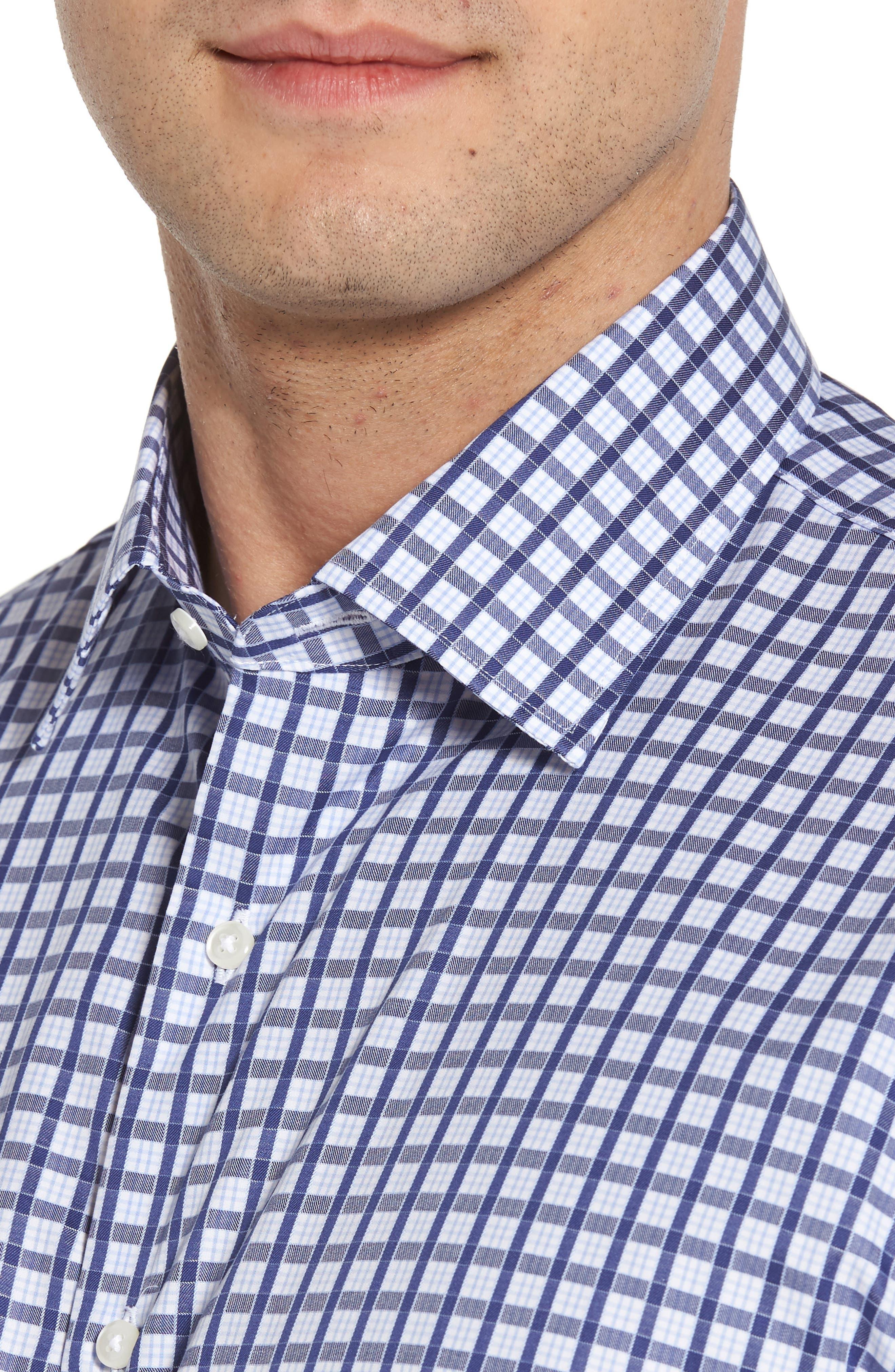 Classic Fit Check Dress Shirt,                             Alternate thumbnail 2, color,                             410